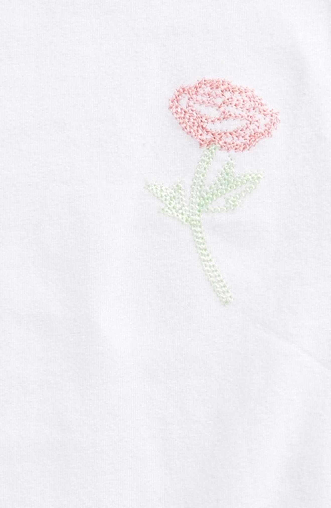Alternate Image 2  - Maddie Embroidered Tee (Big Girls)