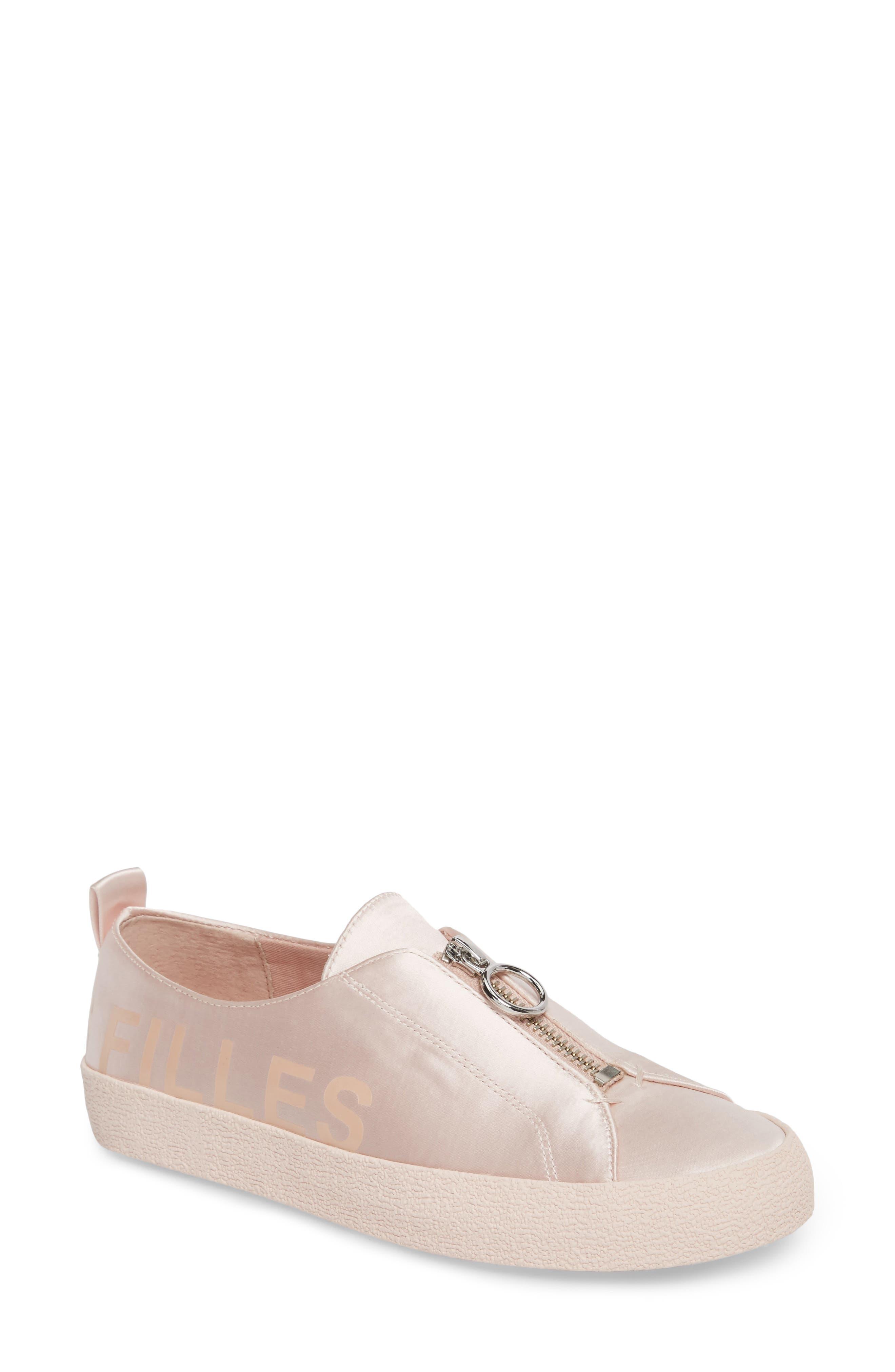 Sasha Zip Sneaker,                             Main thumbnail 1, color,                             Avec Pink Fabric