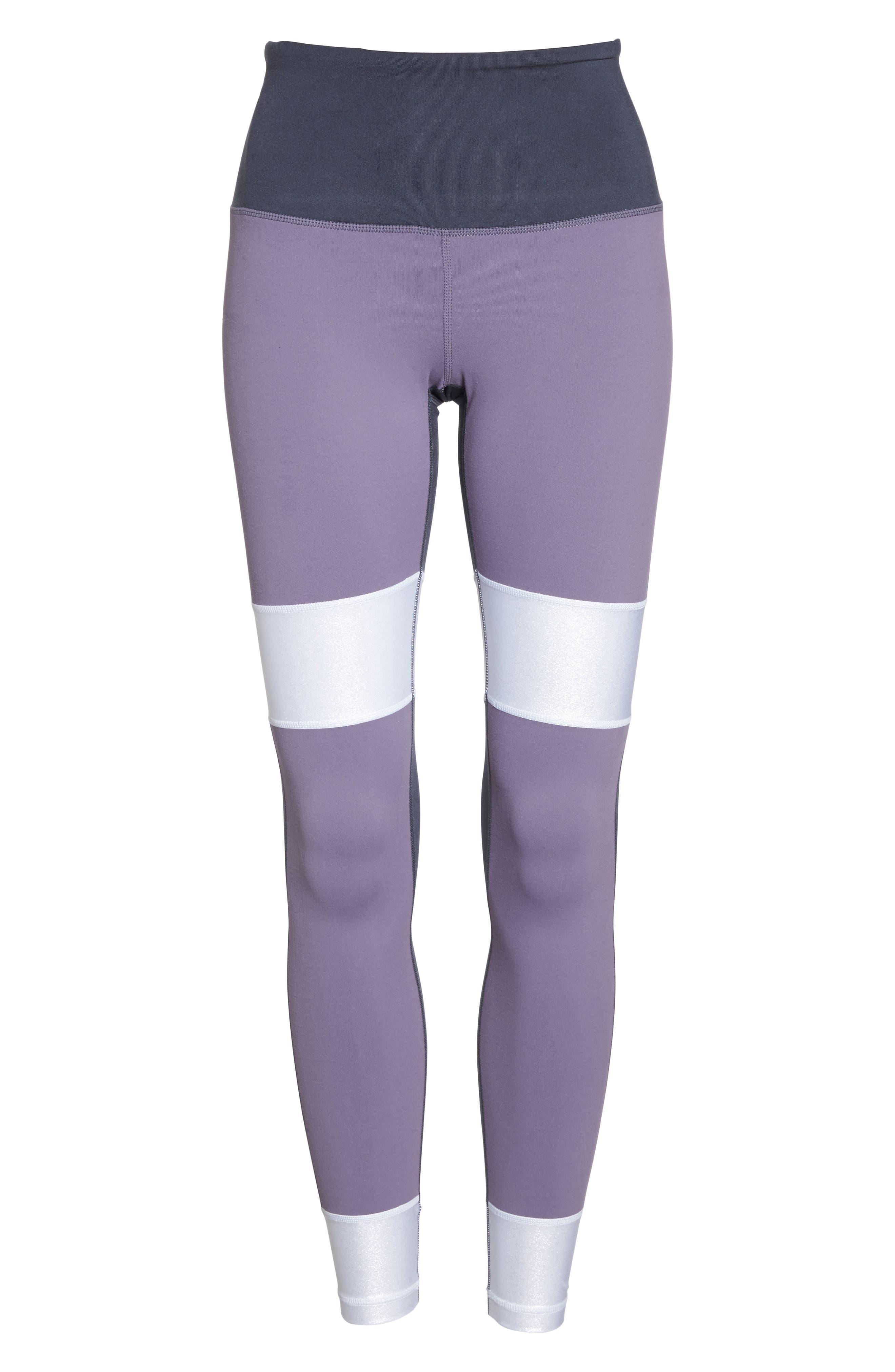 Around the Block High Waist Ankle Leggings,                             Alternate thumbnail 7, color,                             Purple Cadet