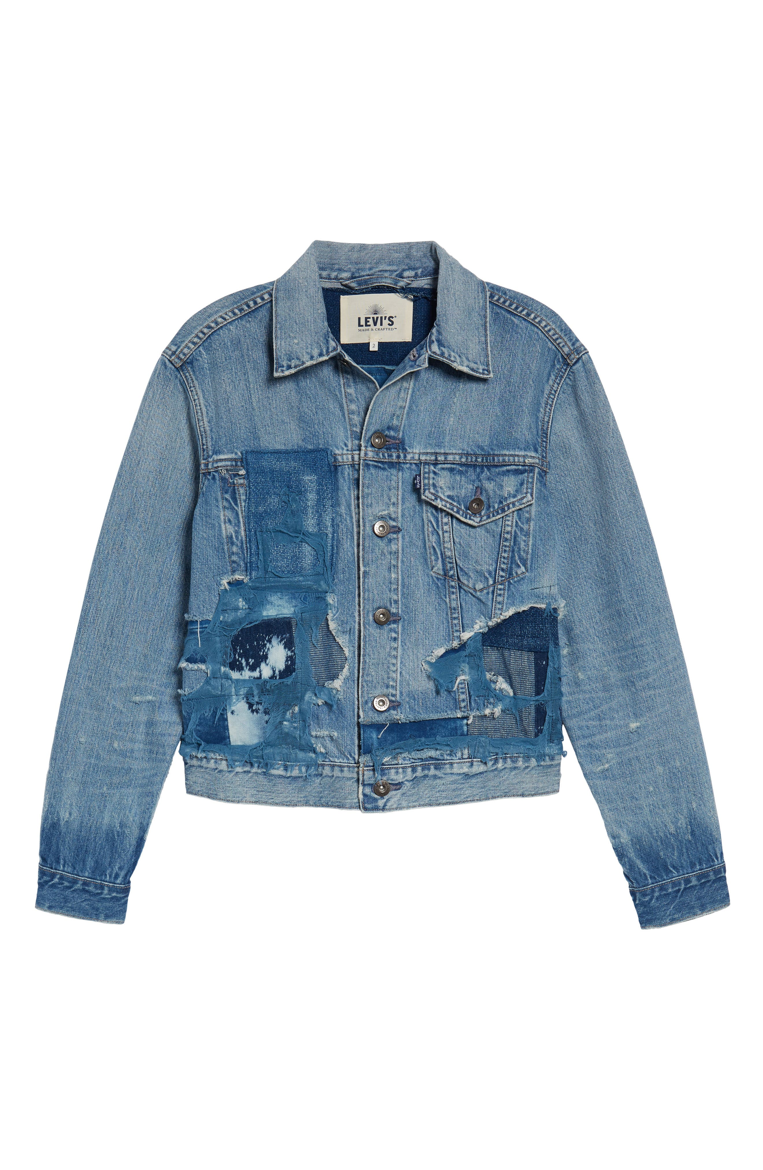 Made & Crafted<sup>™</sup> Boyfriend Trucker Jacket,                             Alternate thumbnail 7, color,                             Taito Light