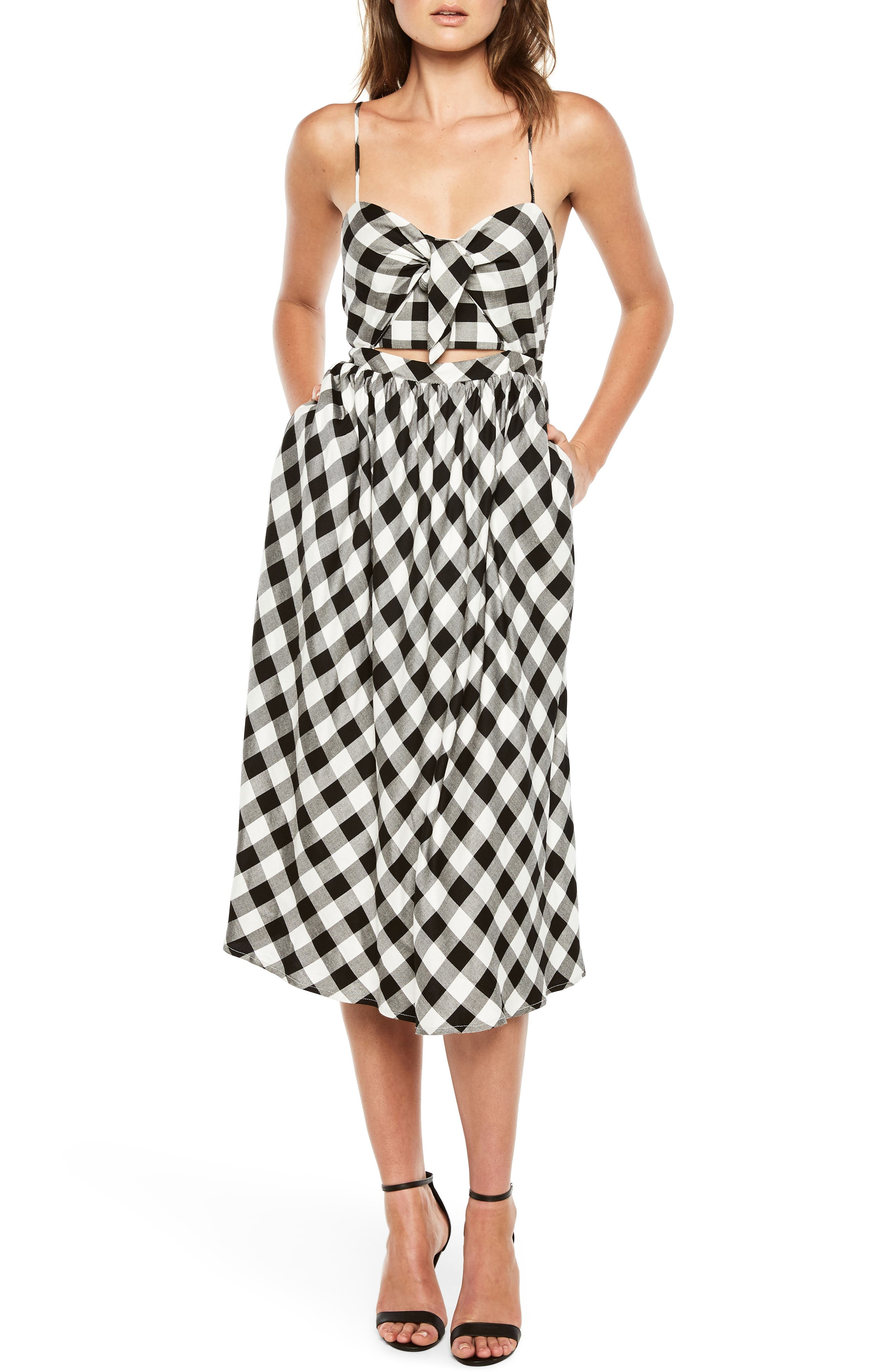 Bardot Ibiza Check Dress