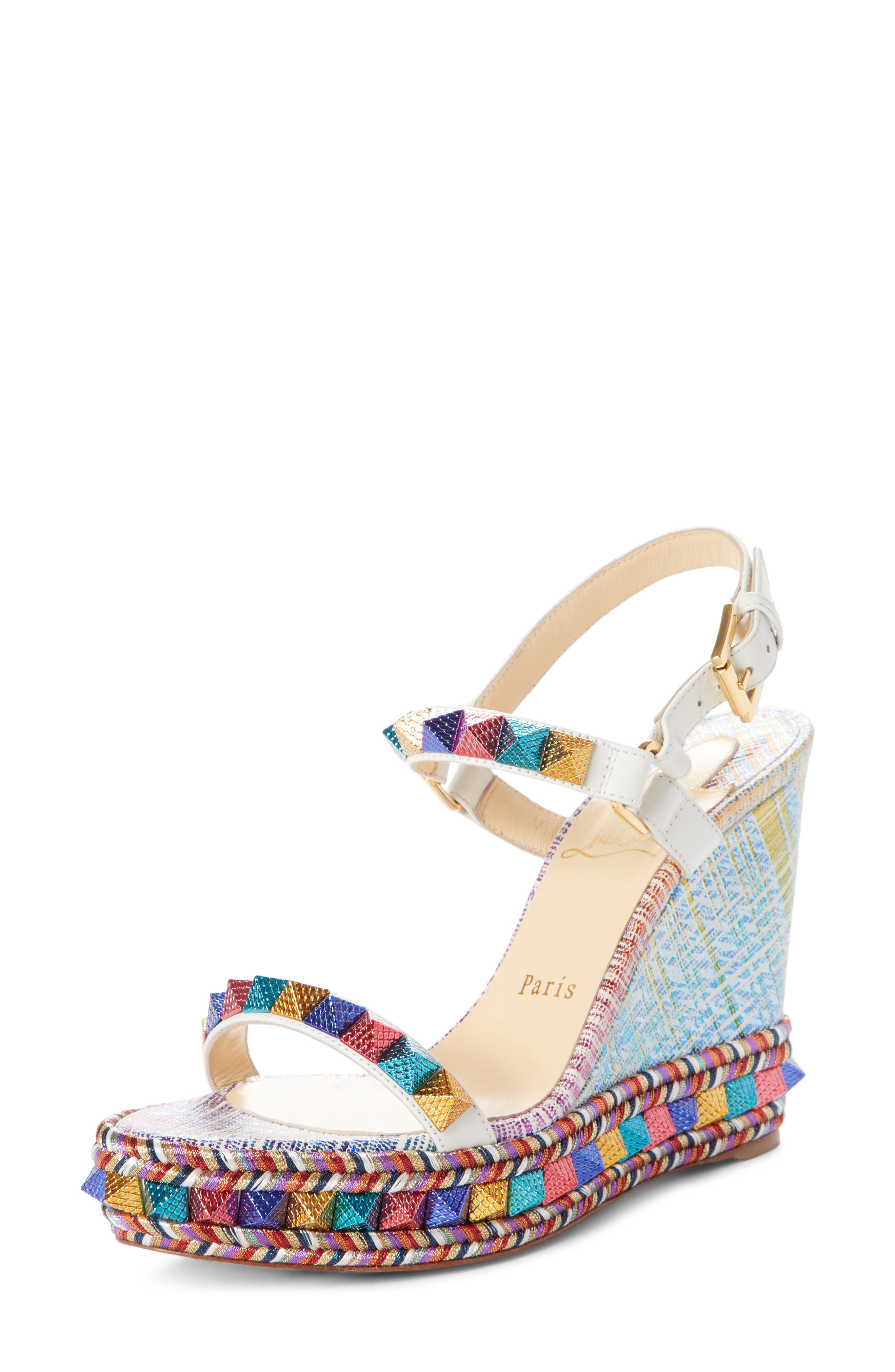 cheap exclusive Christian Louboutin Studded Platform Wedges discount excellent oBEBhAbfKP