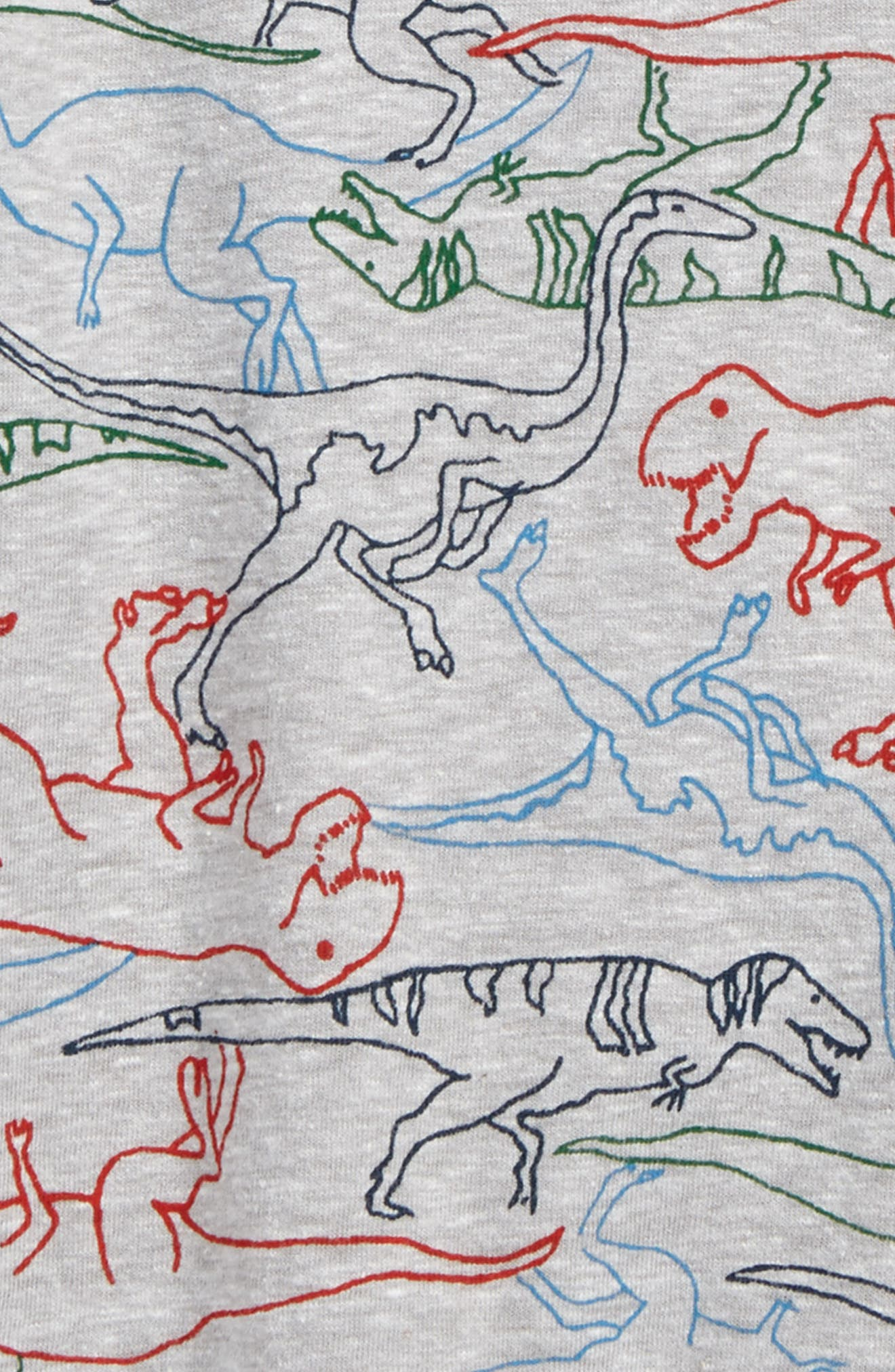 Print T-Shirt,                             Alternate thumbnail 2, color,                             Grey Ash Heather Multi Dino