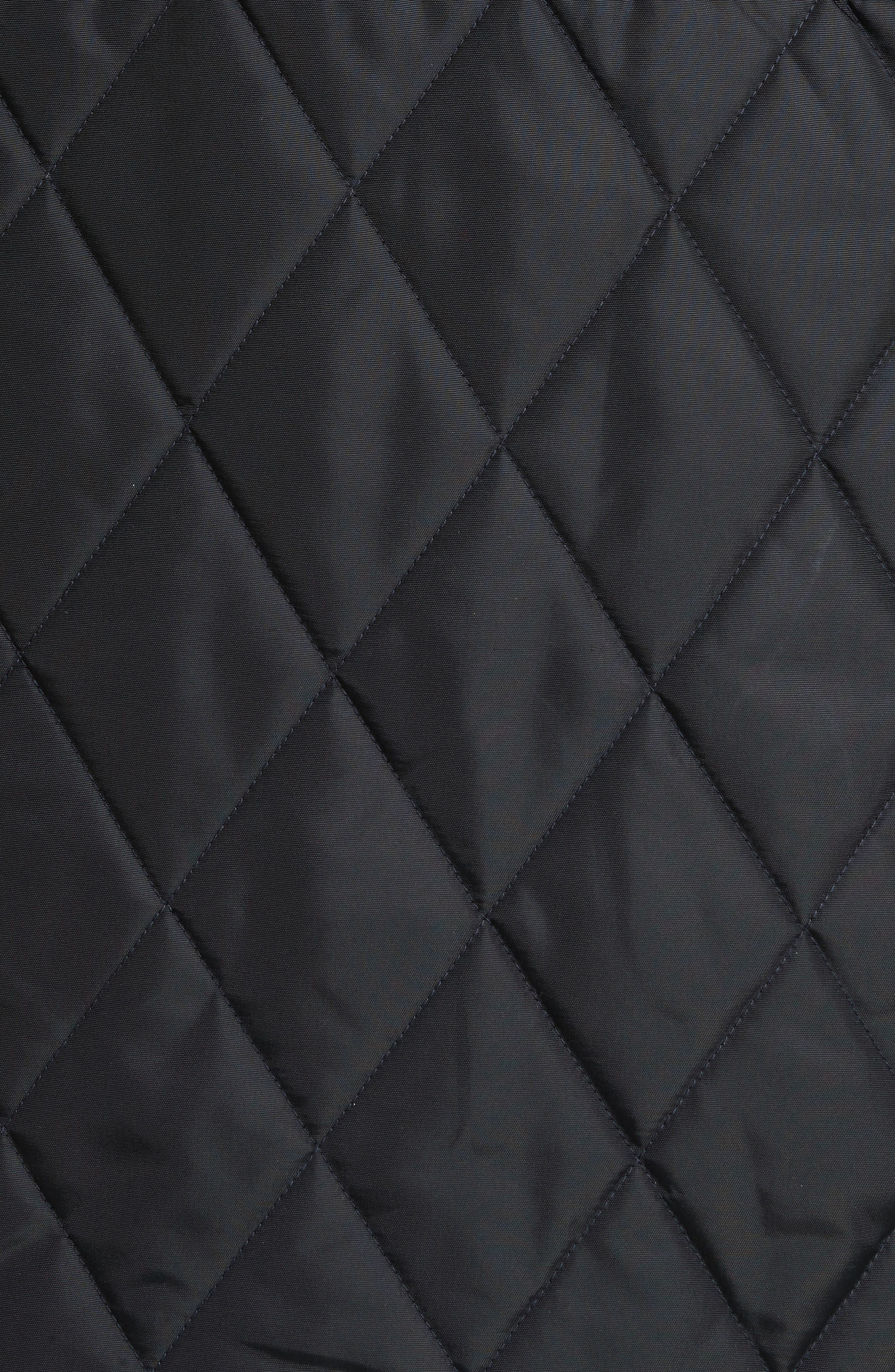 Northumberland Quilted Barn Jacket,                             Alternate thumbnail 5, color,                             Navy