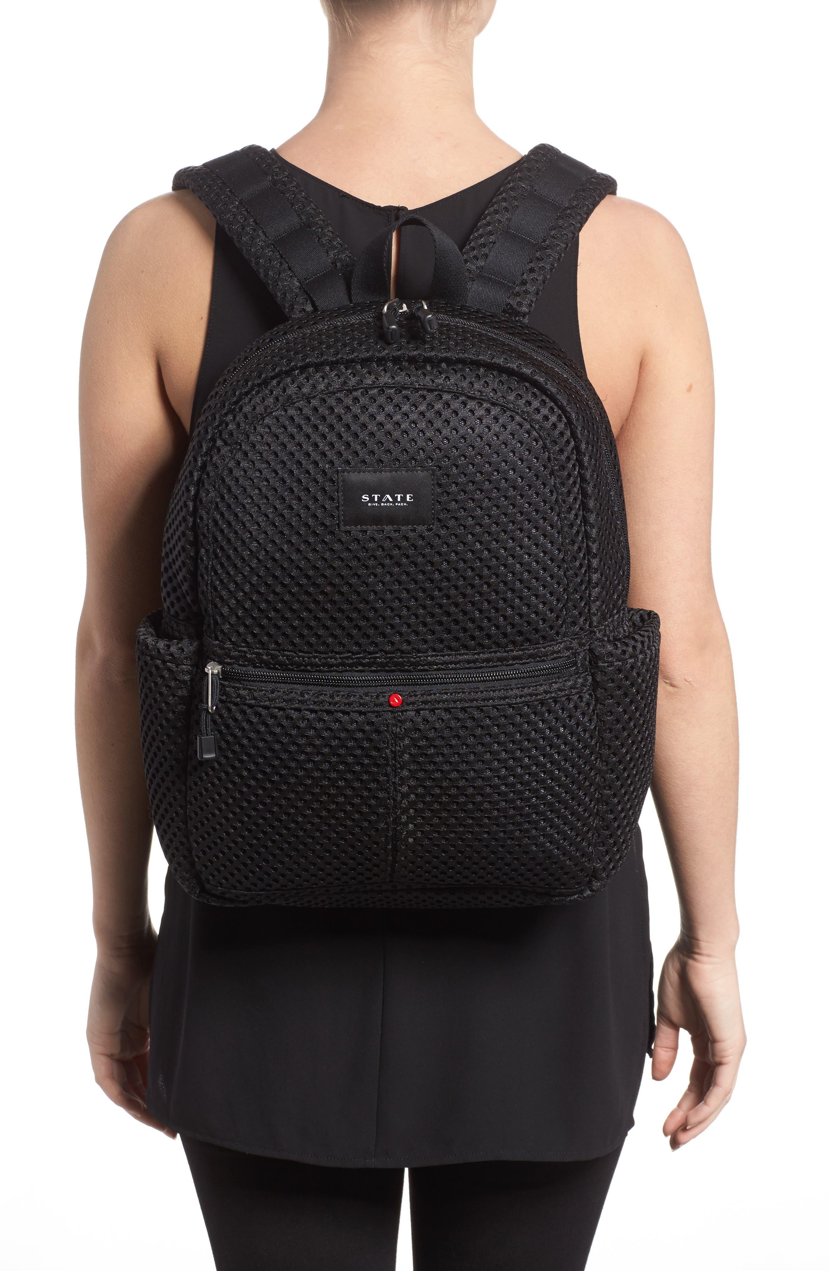 Lacrosse Mesh Kane Backpack,                             Alternate thumbnail 2, color,                             Black