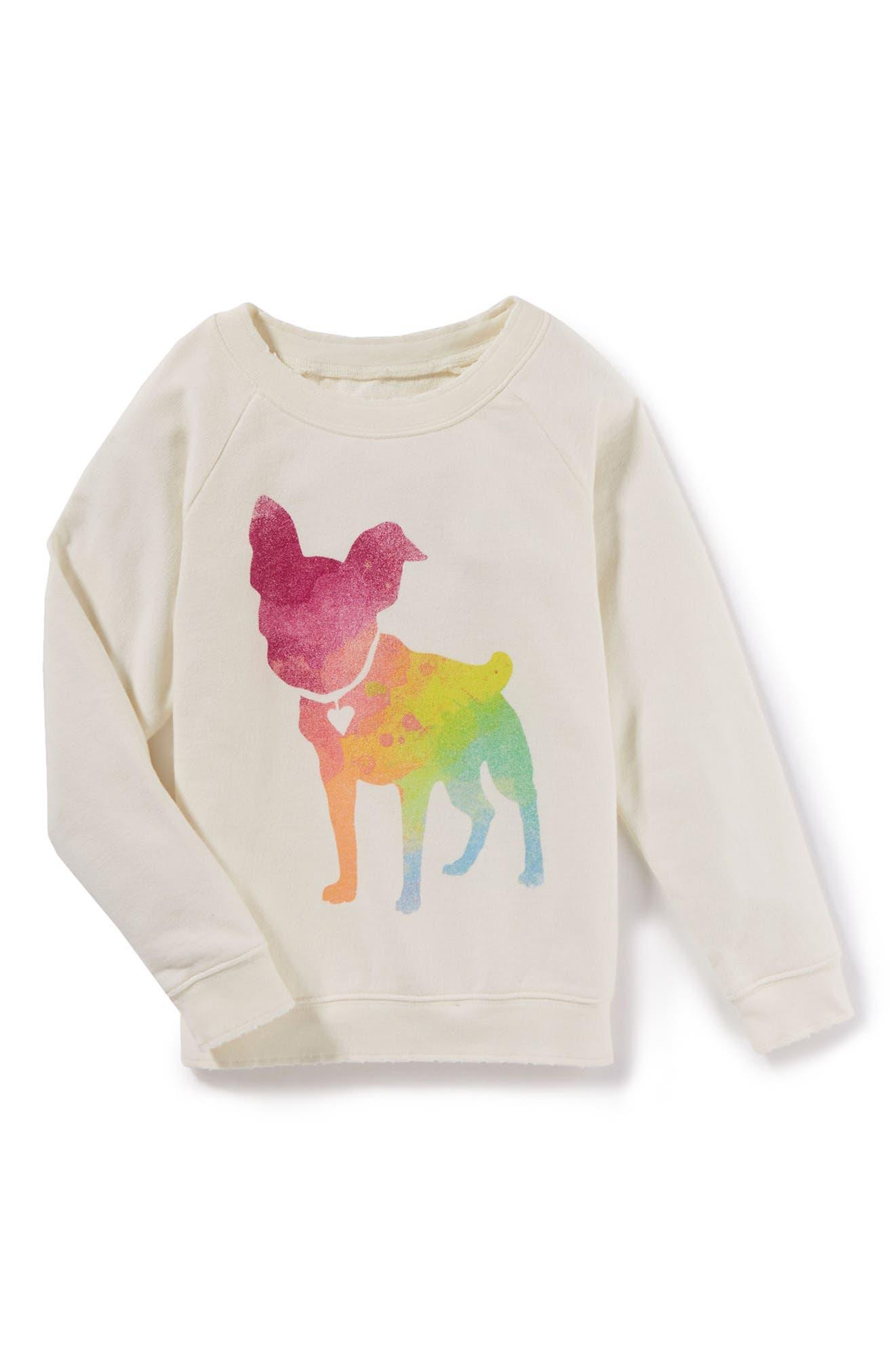 Alternate Image 1 Selected - Peek Colette Graphic Sweatshirt (Toddler Girls, Little Girls & Big Girls)