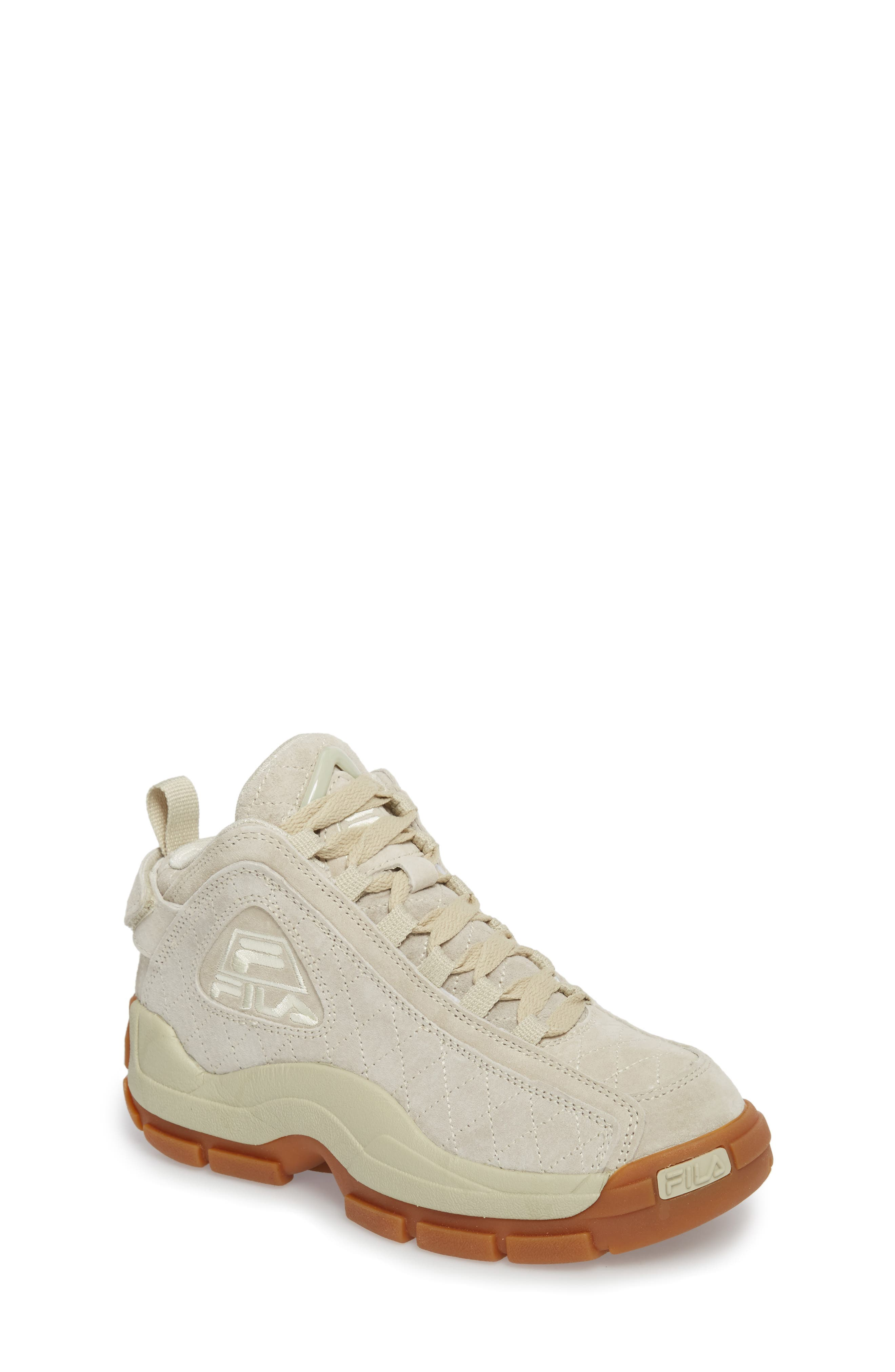 96 Quilted Mid-Top Sneaker,                             Main thumbnail 1, color,                             Cream/ Gum