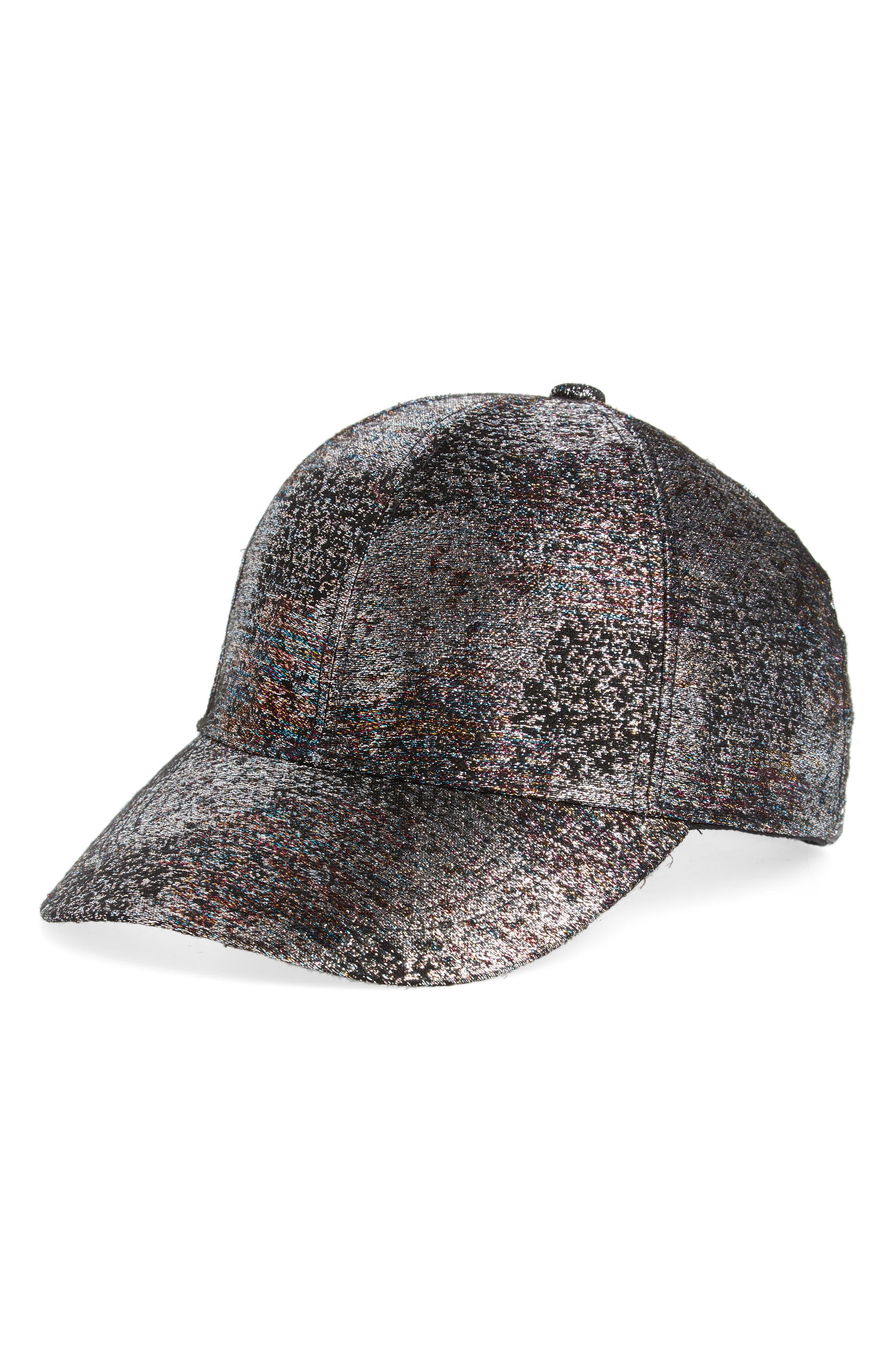 Iridescent Baseball Cap,                         Main,                         color, Multi