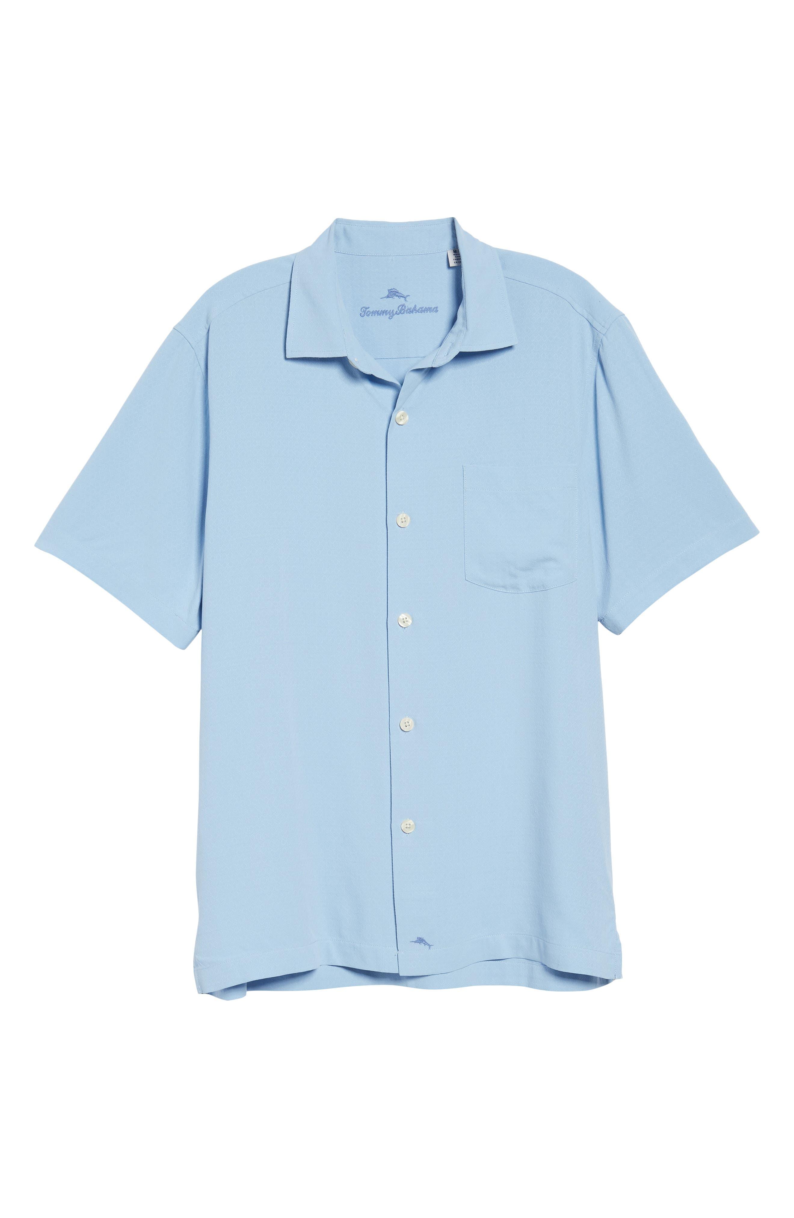 Alternate Image 6  - Tommy Bahama Oasis Jacquard Silk Sport Shirt