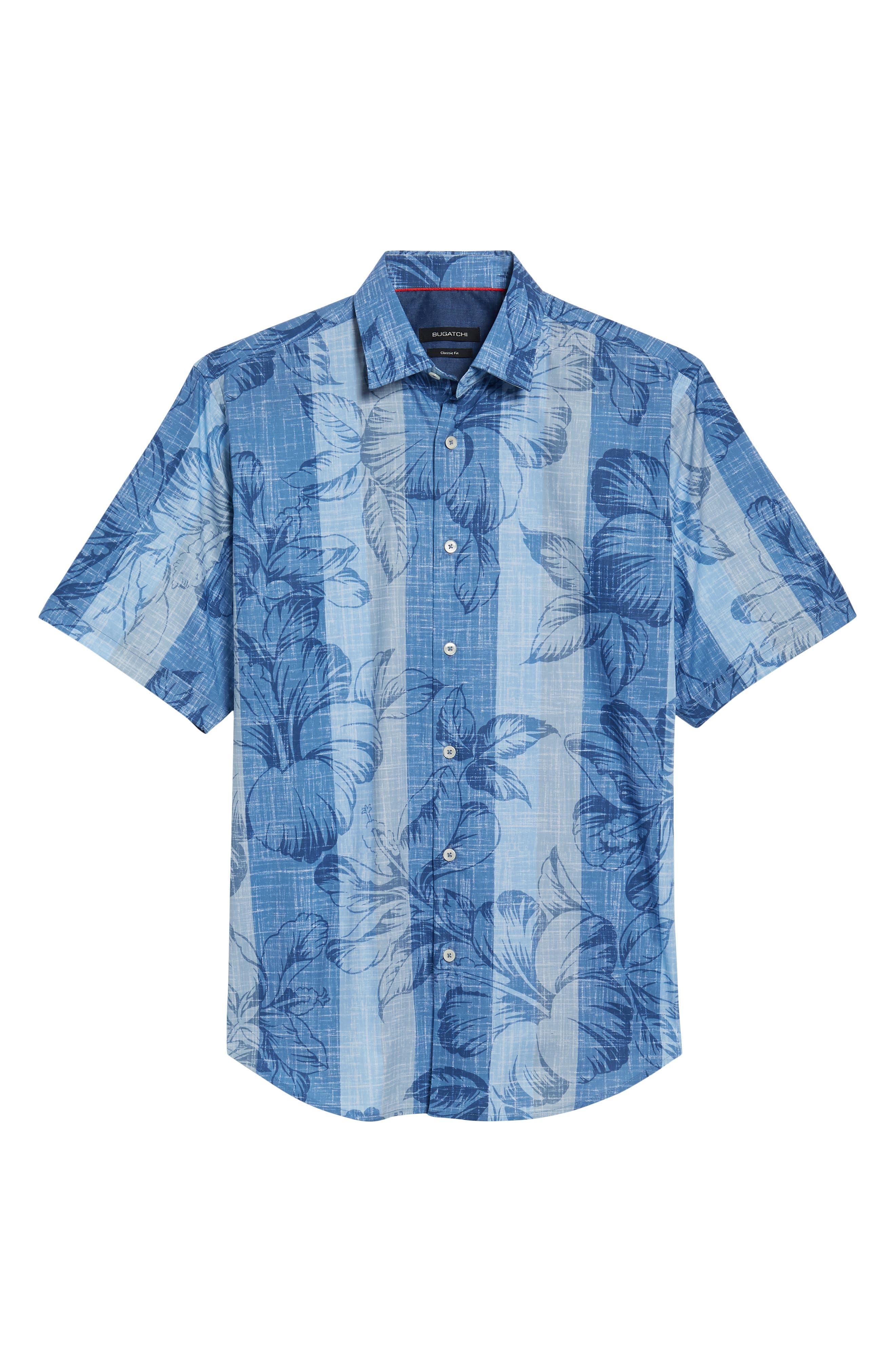 Alternate Image 6  - Bugatchi Classic Fit Floral Sport Shirt
