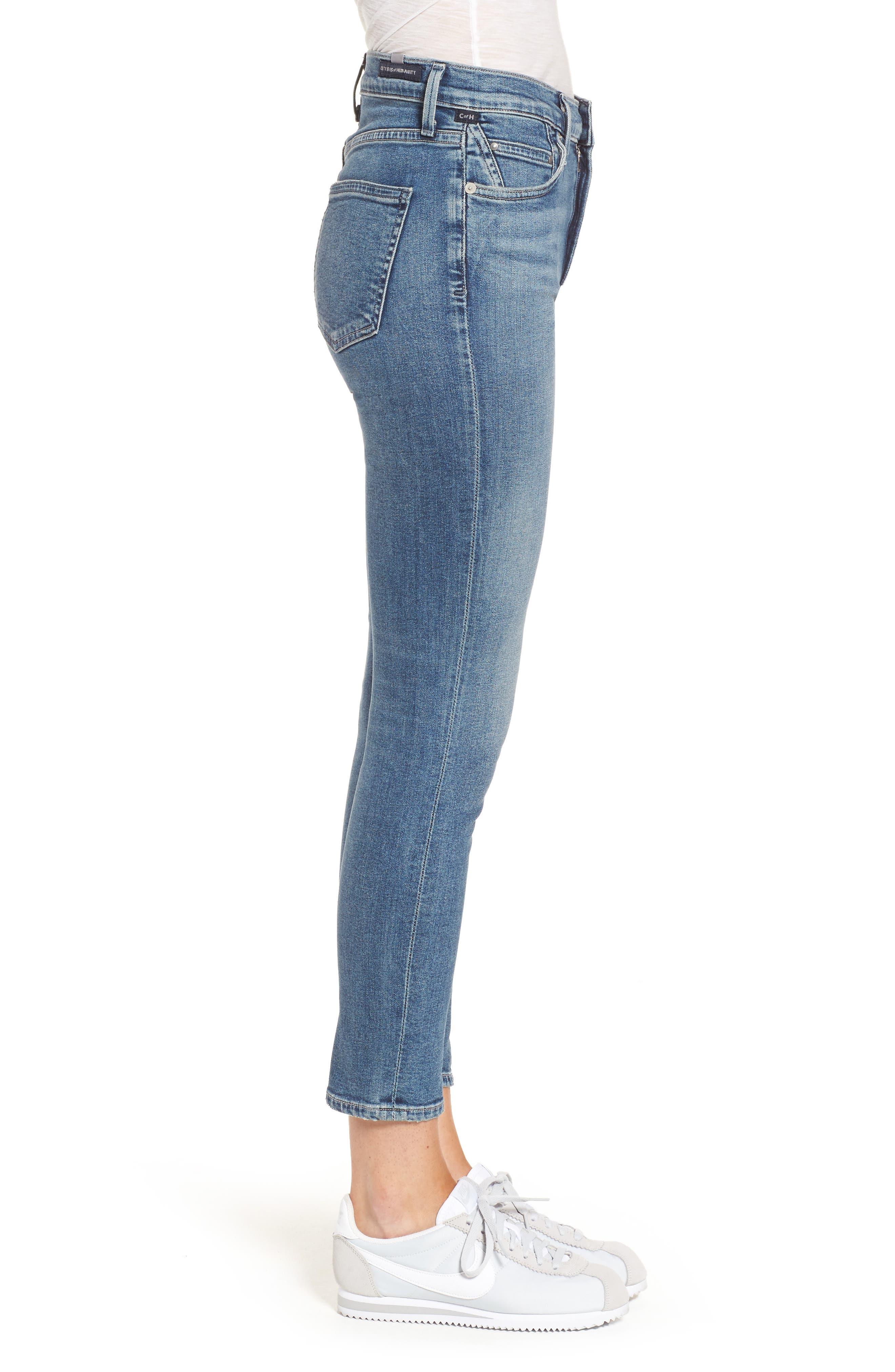 Rocket Crop Skinny Jeans,                             Alternate thumbnail 3, color,                             Orbit