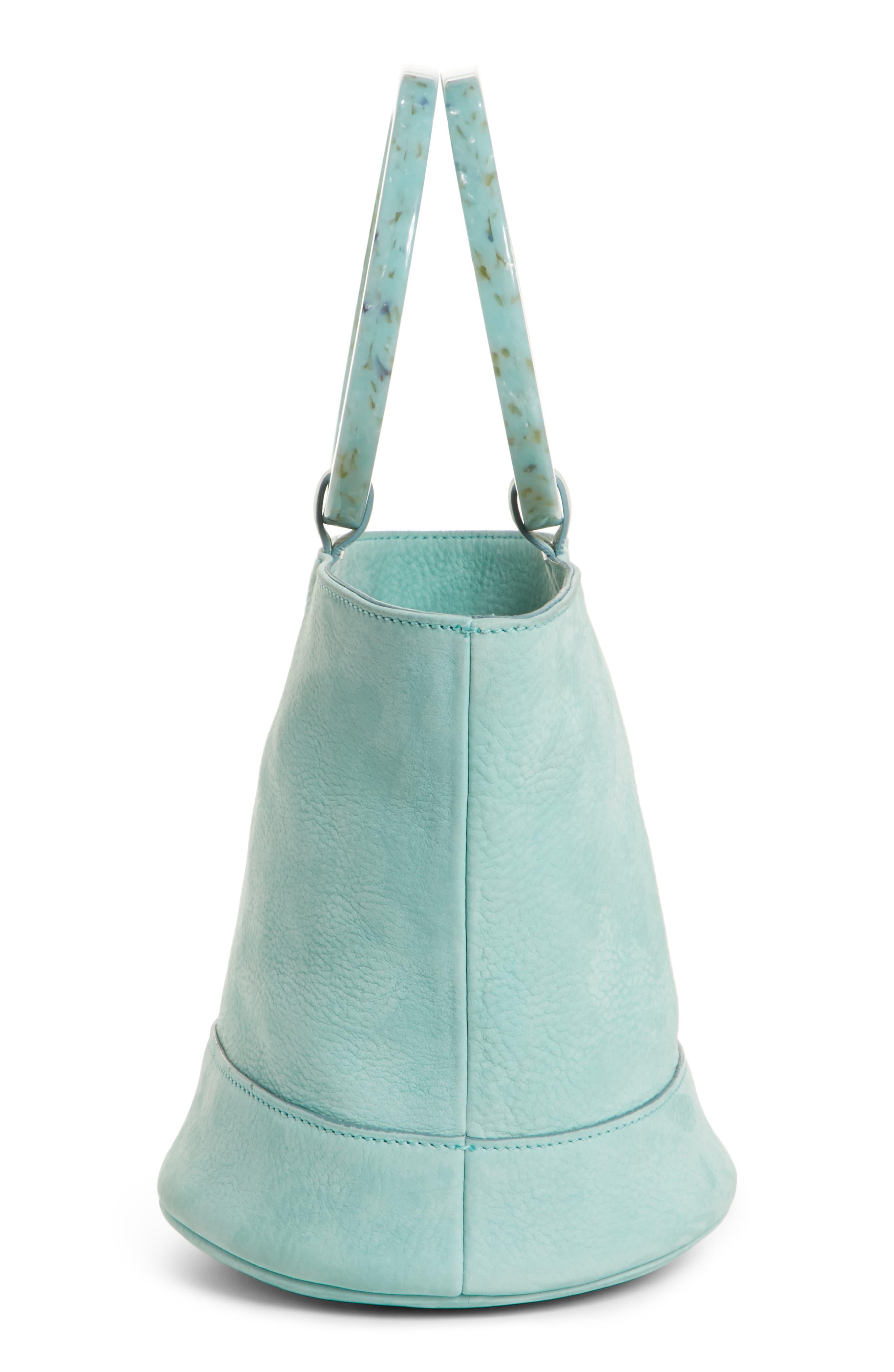 Bonsai 20 Pebbled Leather Bucket Bag,                             Alternate thumbnail 5, color,                             Splash