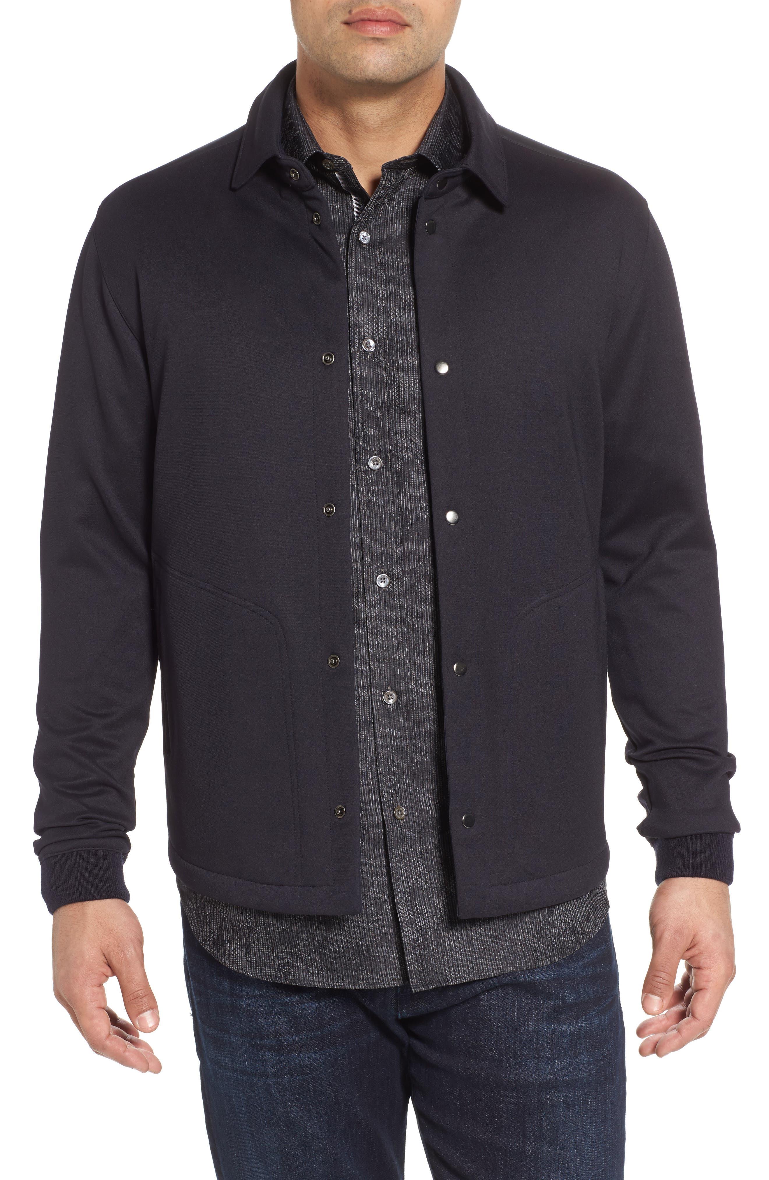Wool Snap Jacket,                         Main,                         color, Navy