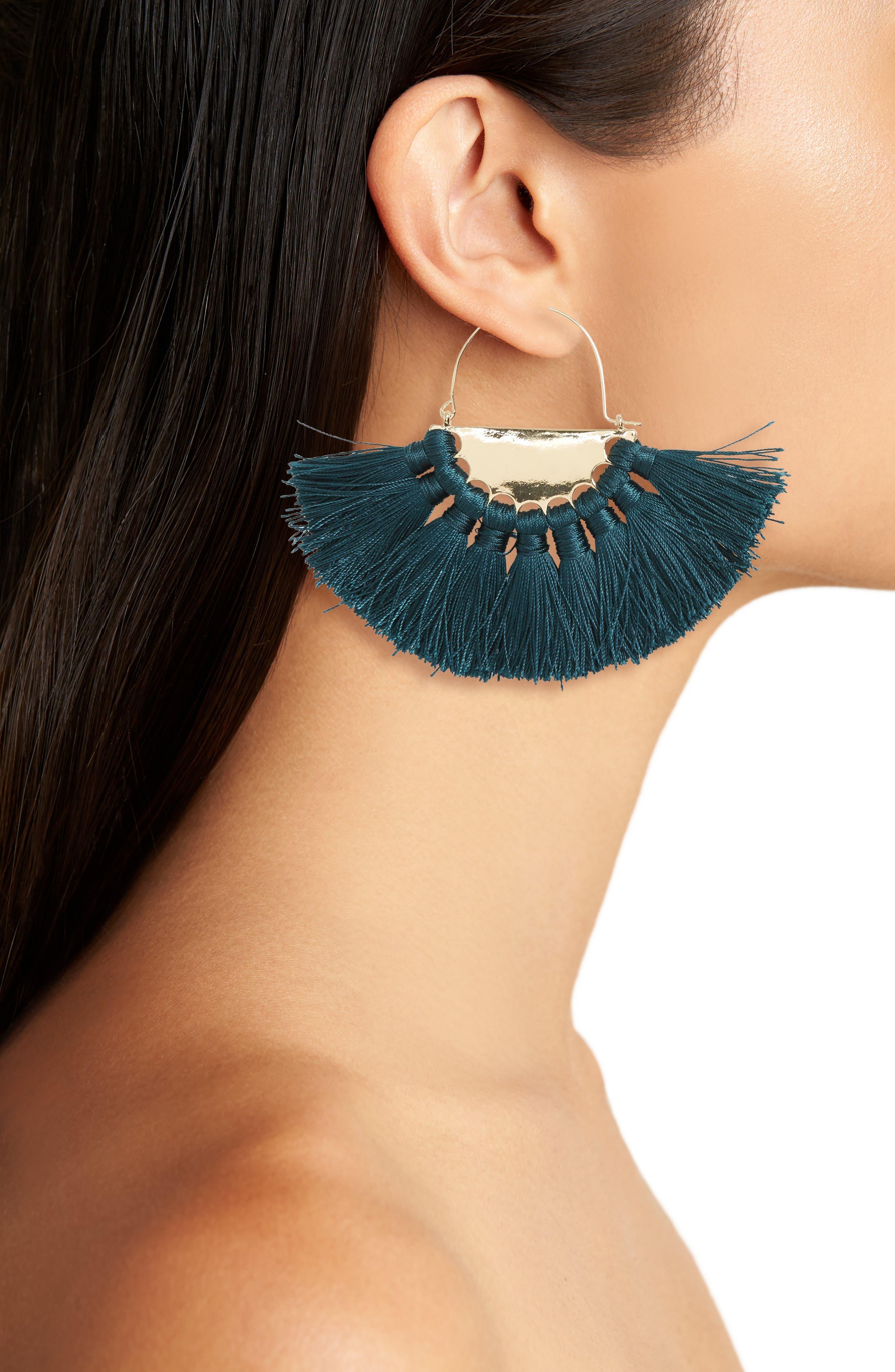 Alternate Image 2  - BP. Oversize Fan Earrings