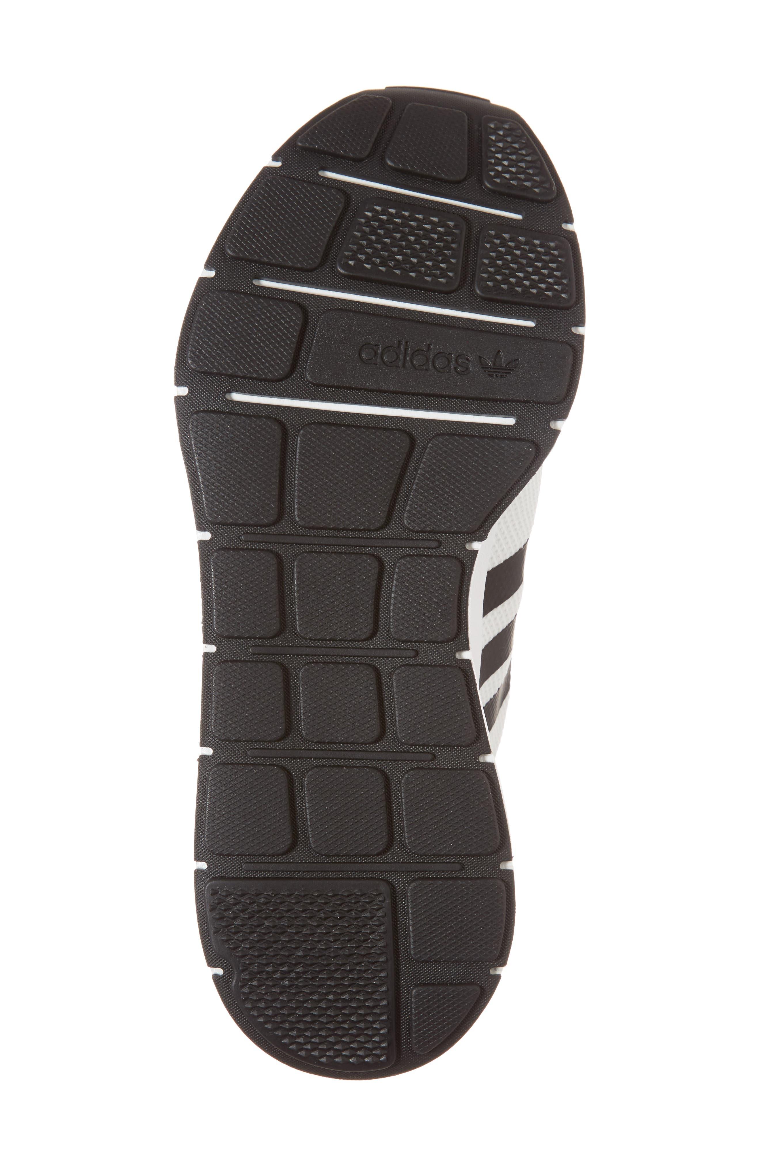 Swift Run Sneaker,                             Alternate thumbnail 6, color,                             White/ Core Black/ Grey