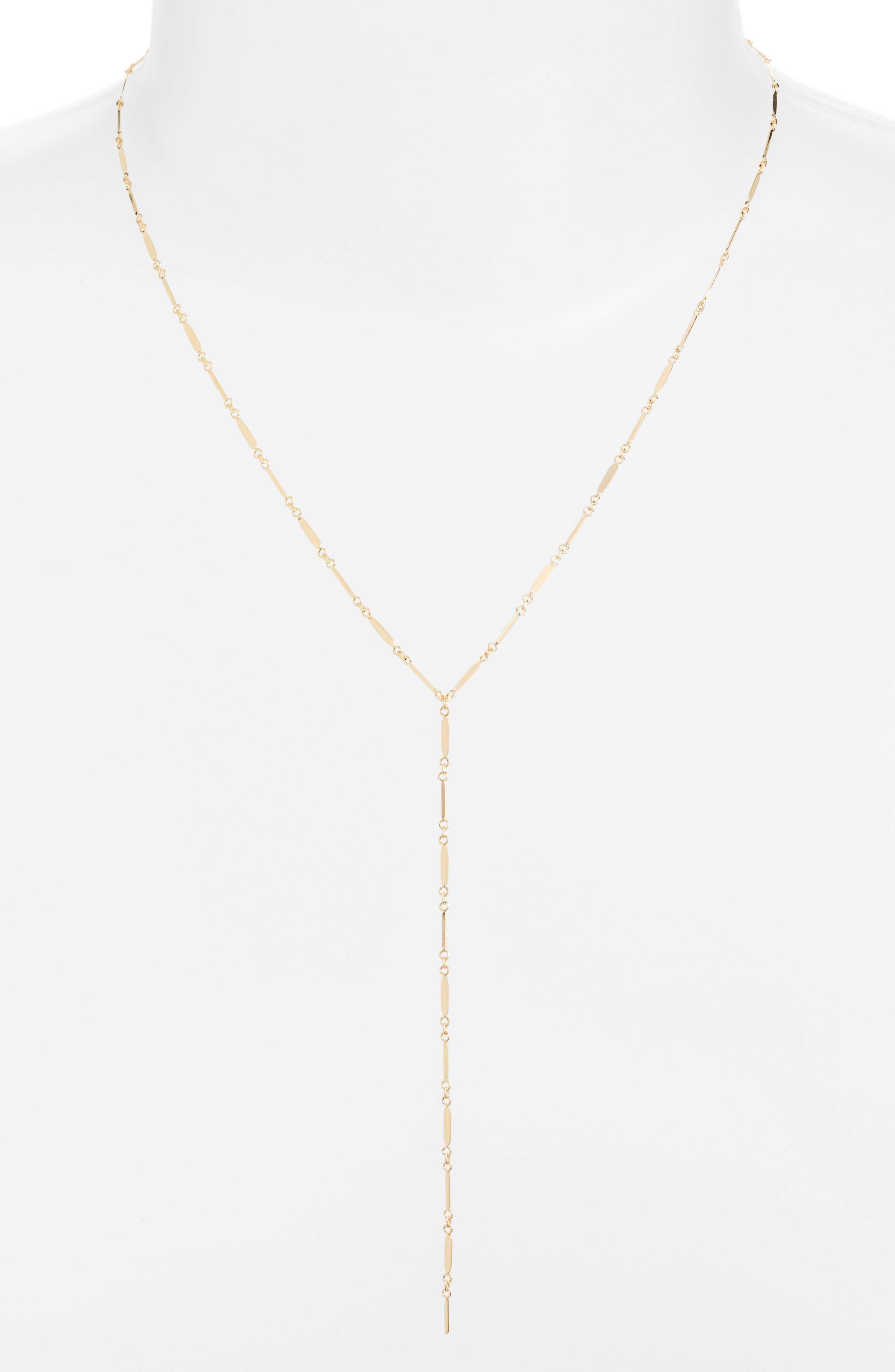 Mirror Bar Lariat Necklace,                         Main,                         color, Gold
