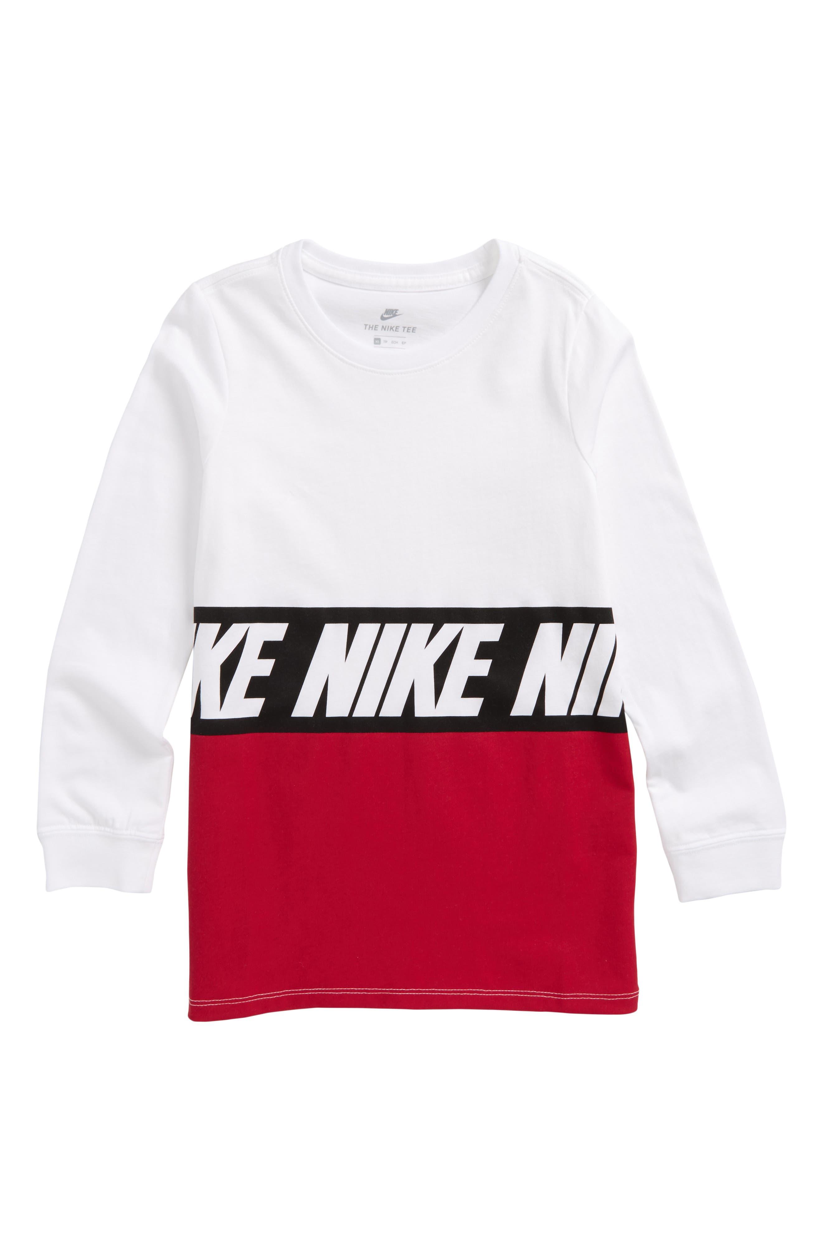 Main Image - Nike Sportswear Color Block T-Shirt (Little Boys & Big Boys)