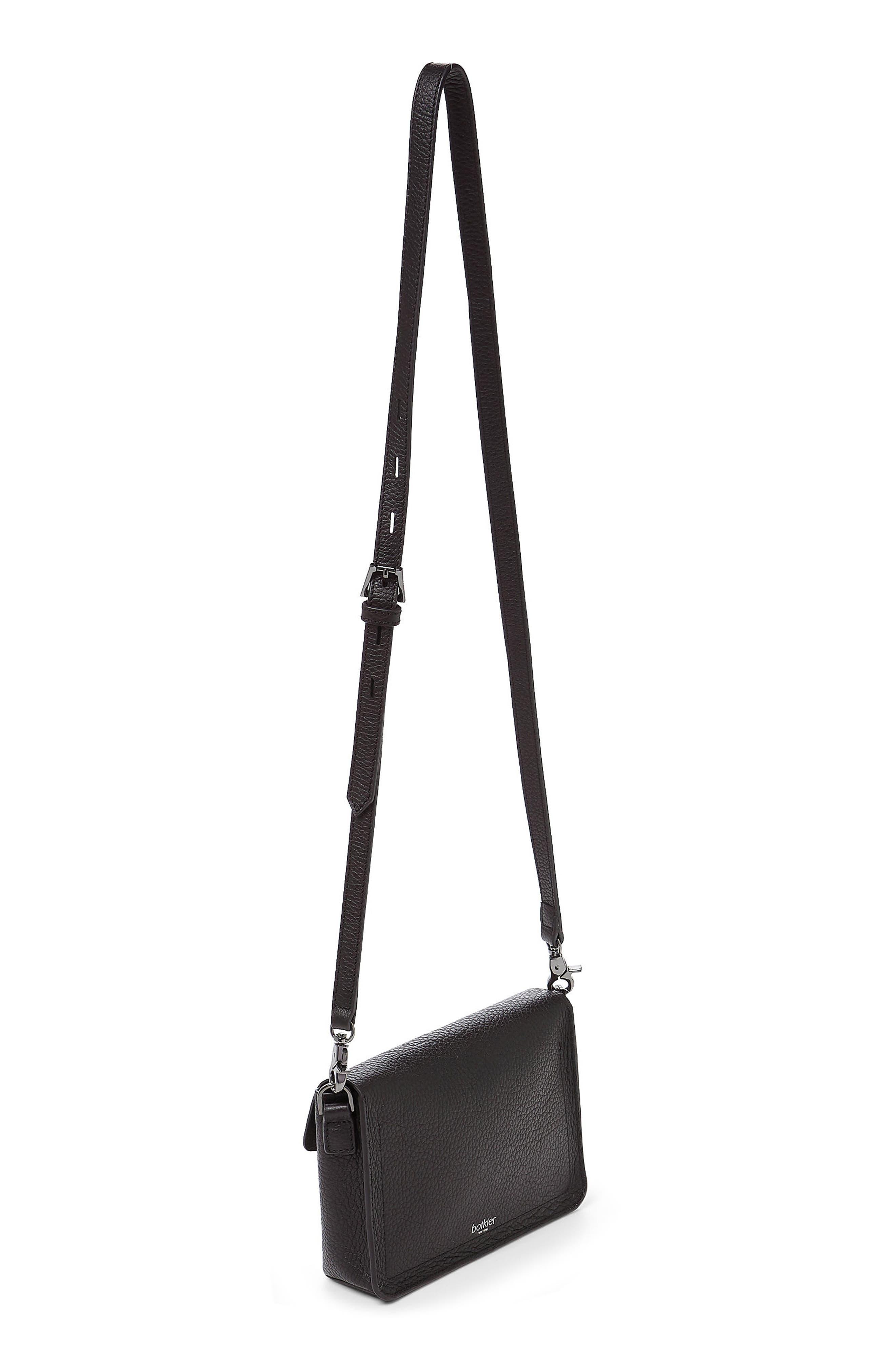 Vivi Leather Crossbody Bag,                             Alternate thumbnail 2, color,                             Black
