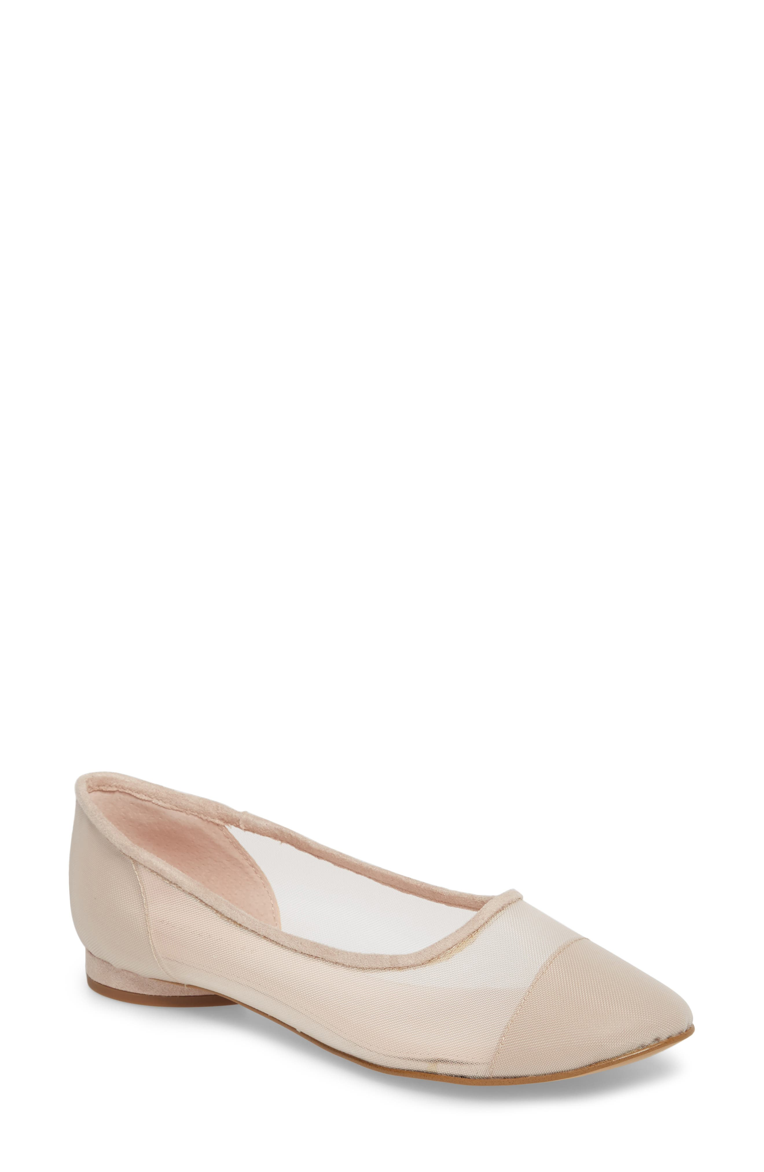 Marian Mesh Inset Flat,                         Main,                         color, Avec Pink Suede