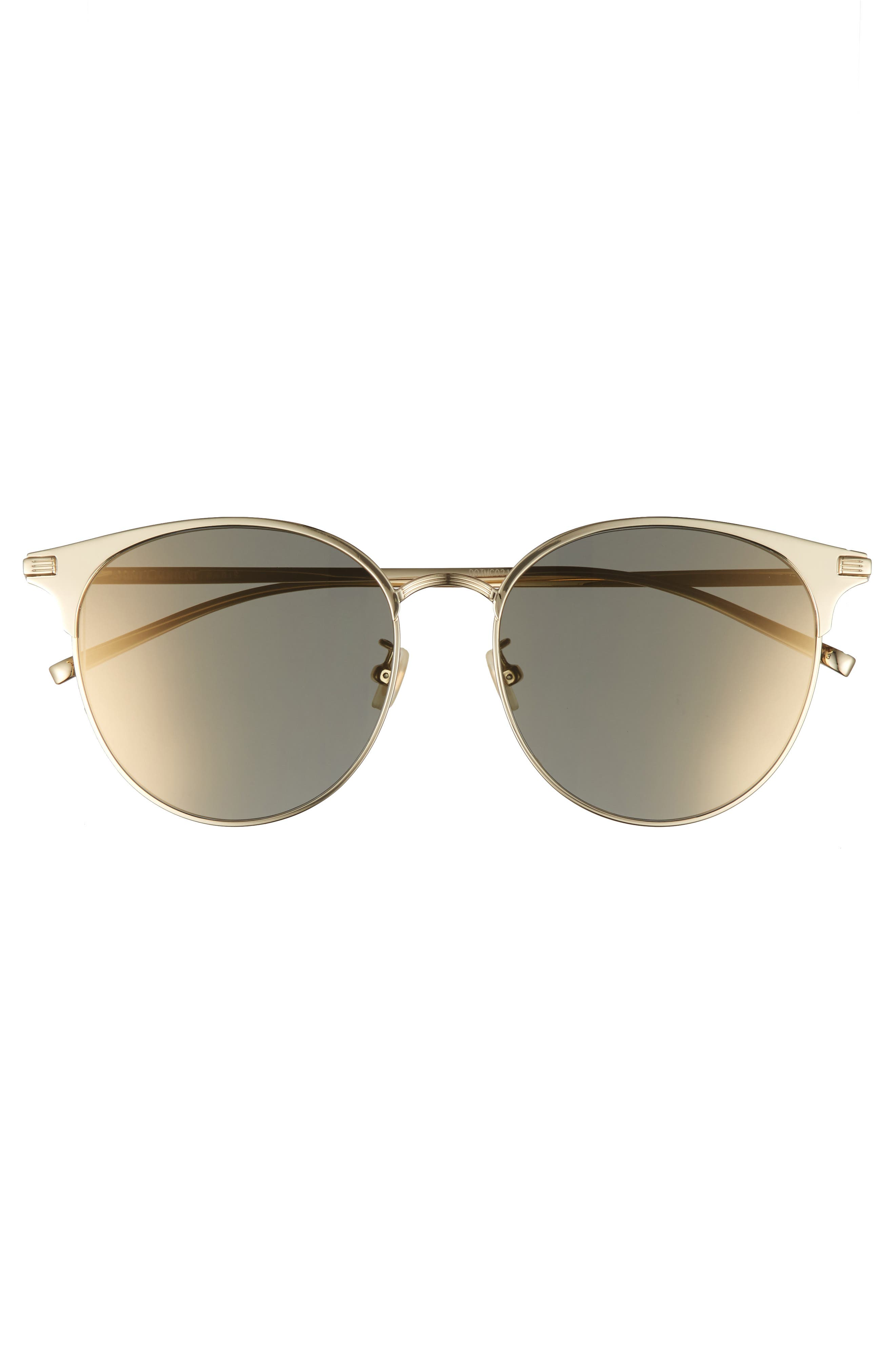 57mm Sunglasses,                             Alternate thumbnail 3, color,                             Gold
