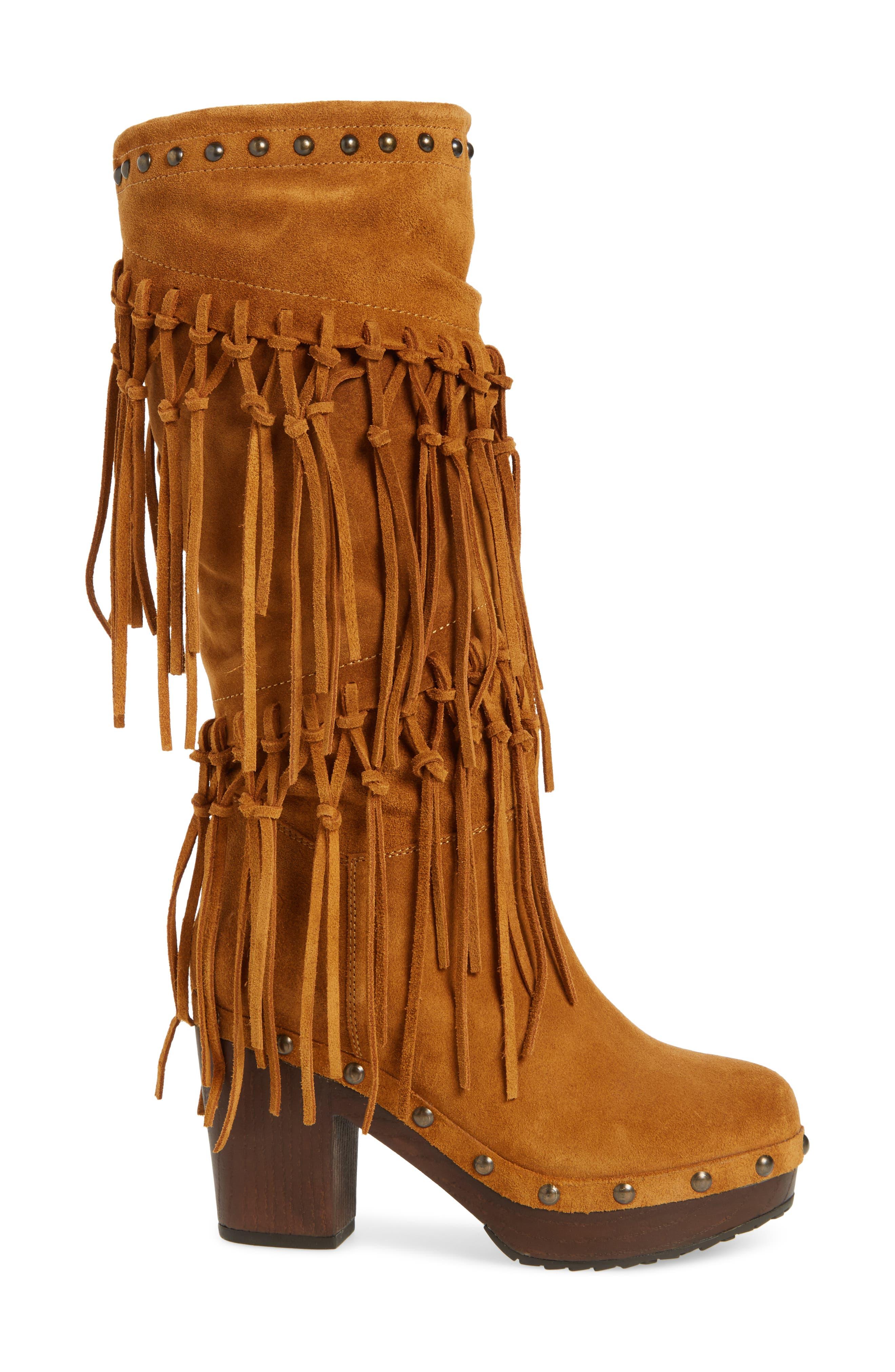 Music Row Fringe Boot,                             Alternate thumbnail 3, color,                             Wheat Fields