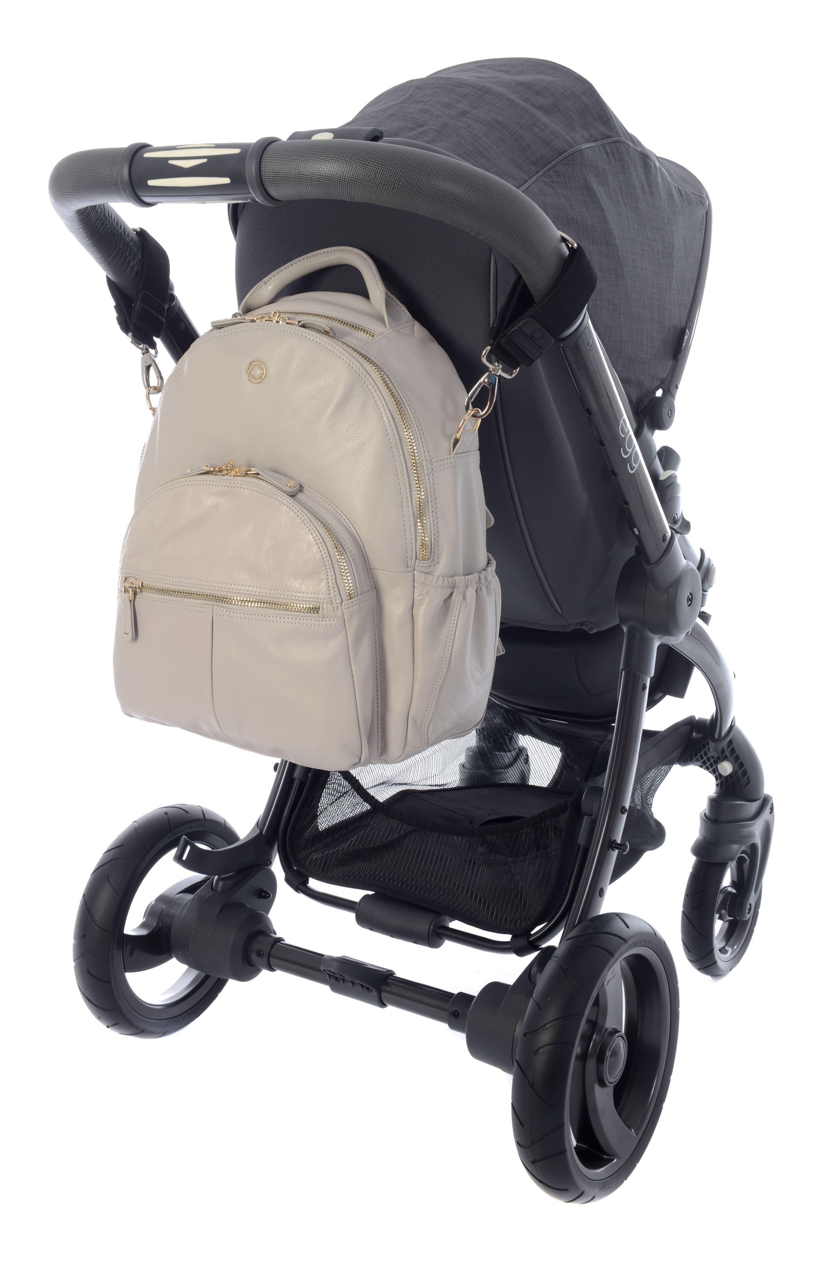 Joy XL Leather Backpack,                             Alternate thumbnail 2, color,                             Ice Grey
