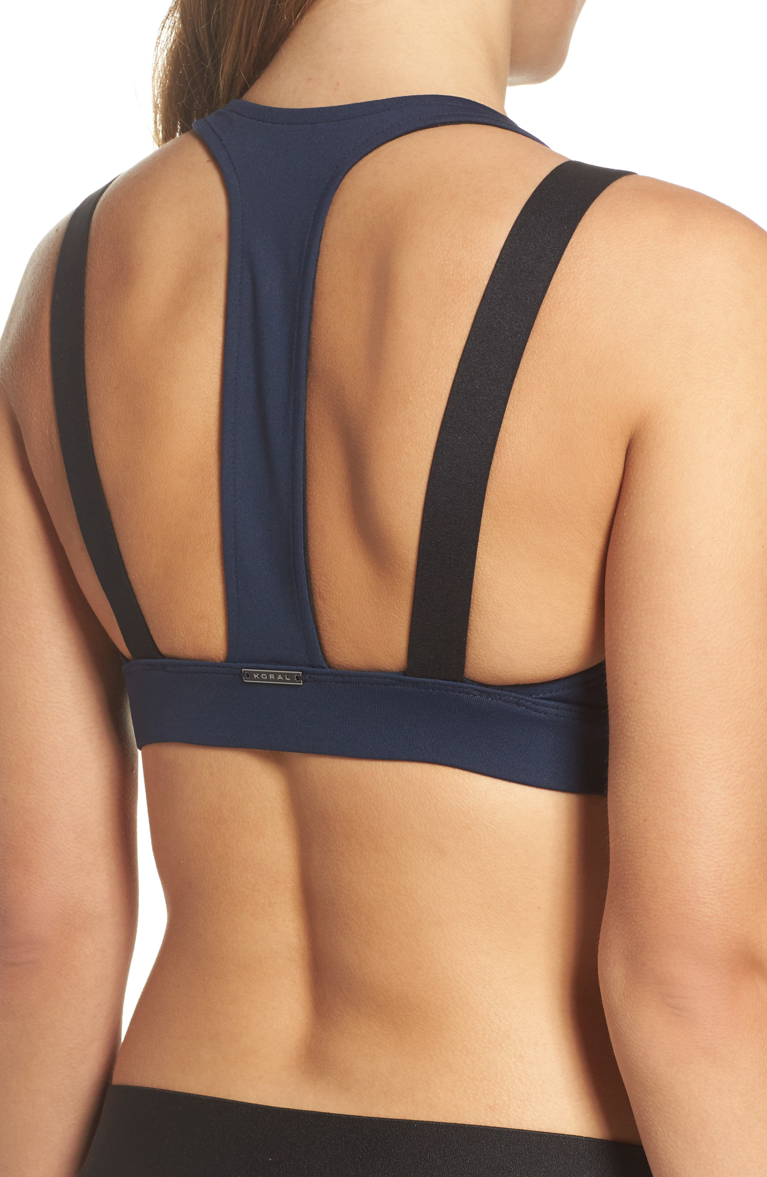 Forte Sports Bra,                             Alternate thumbnail 2, color,                             Midnight Blue/ Black