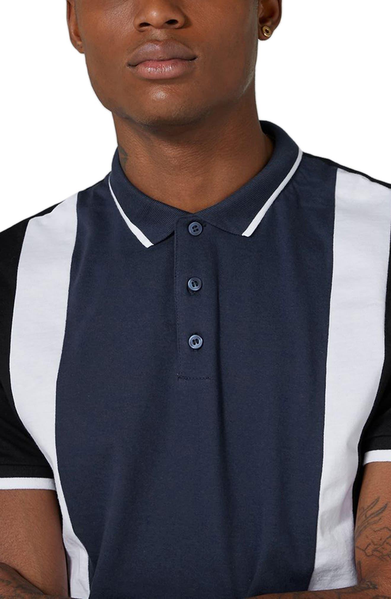 Alternate Image 3  - Topman Panel Cotton Polo