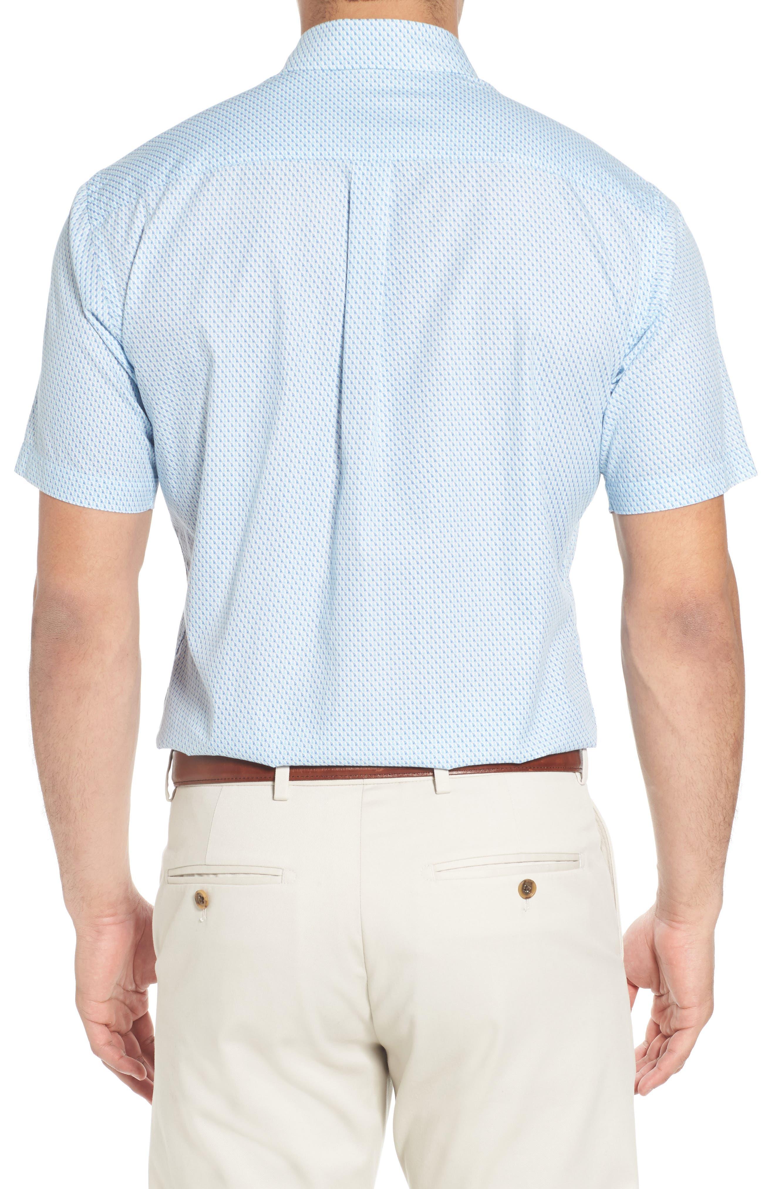Sail Away Regular Fit Cotton & Silk Sport Shirt,                             Alternate thumbnail 2, color,                             Bonnet