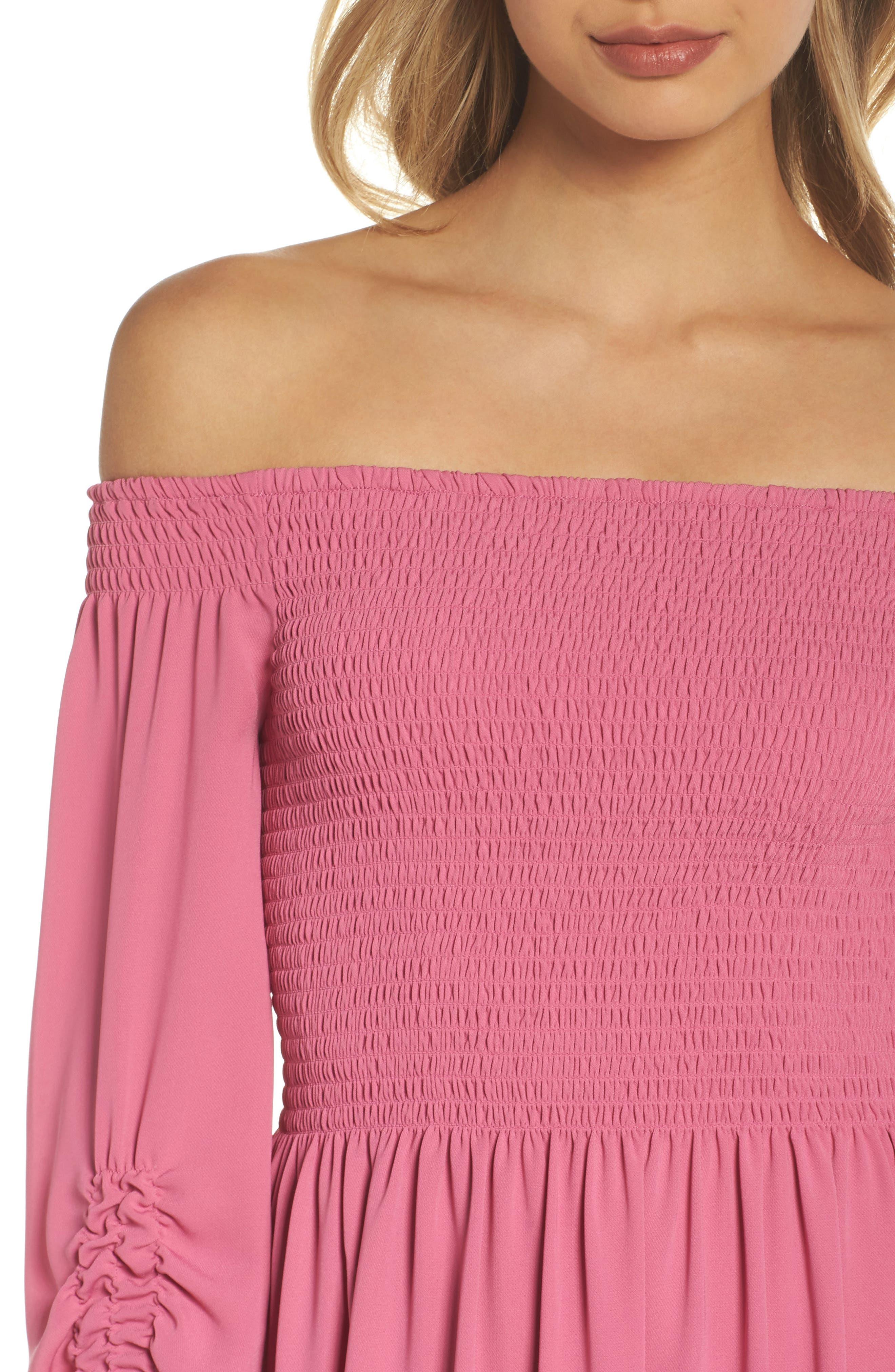 Alternate Image 4  - Kobi Halperin Nina Off the Shoulder Dress (Nordstrom Exclusive)