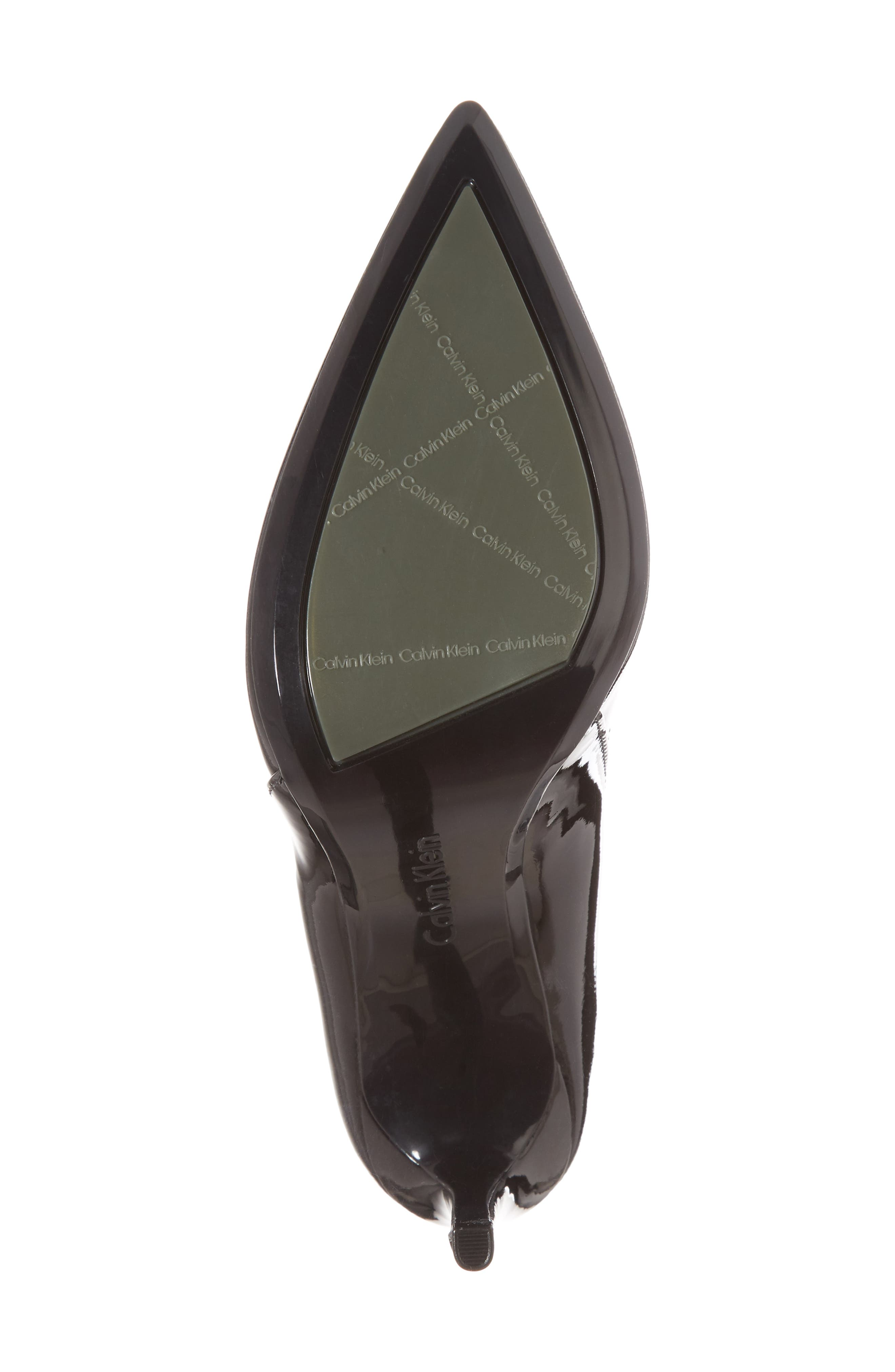 Randa Pointy Toe Pump,                             Alternate thumbnail 6, color,                             Black Leather