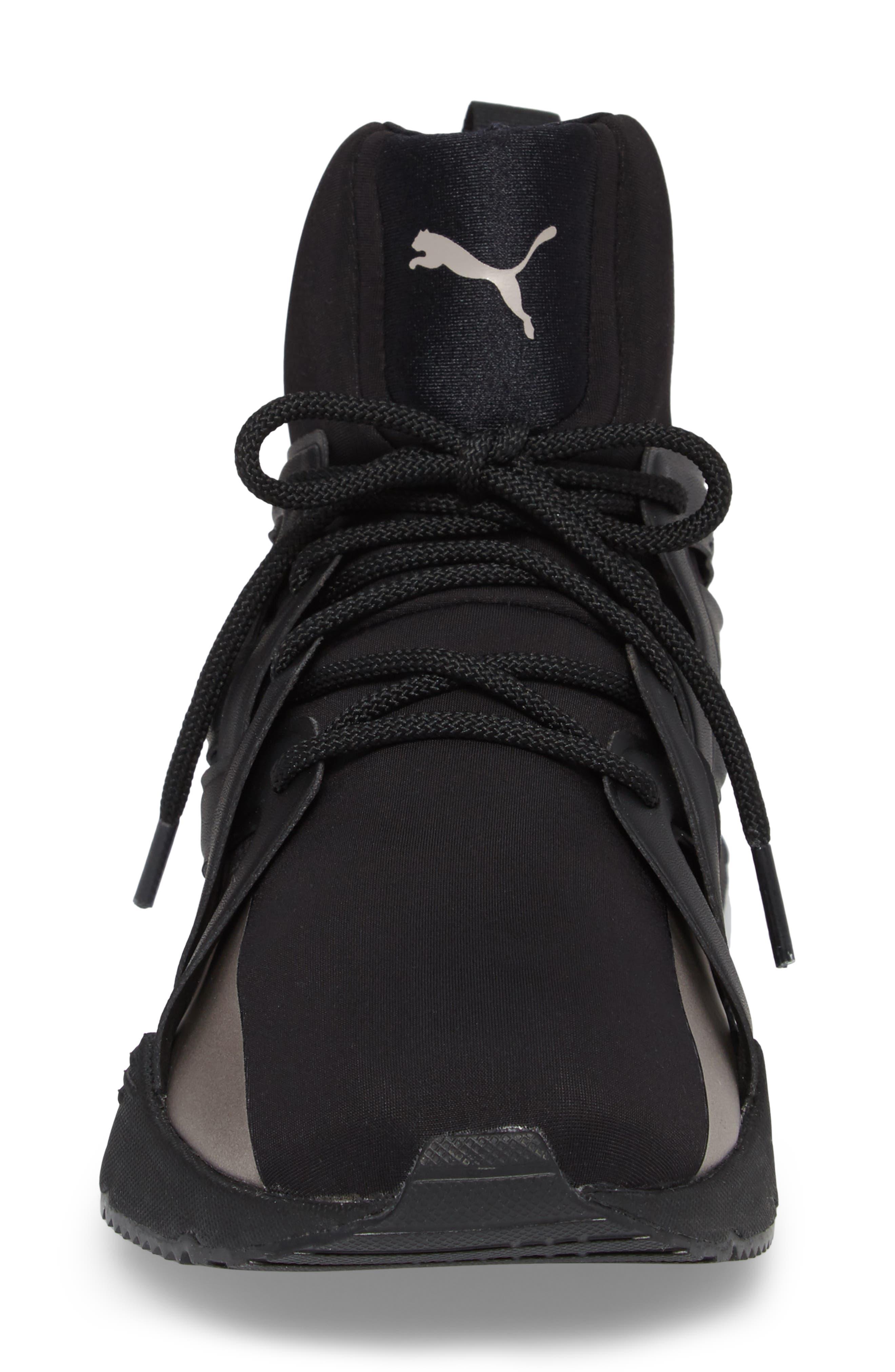 Muse Echo Sneaker,                             Alternate thumbnail 4, color,                             Puma Black