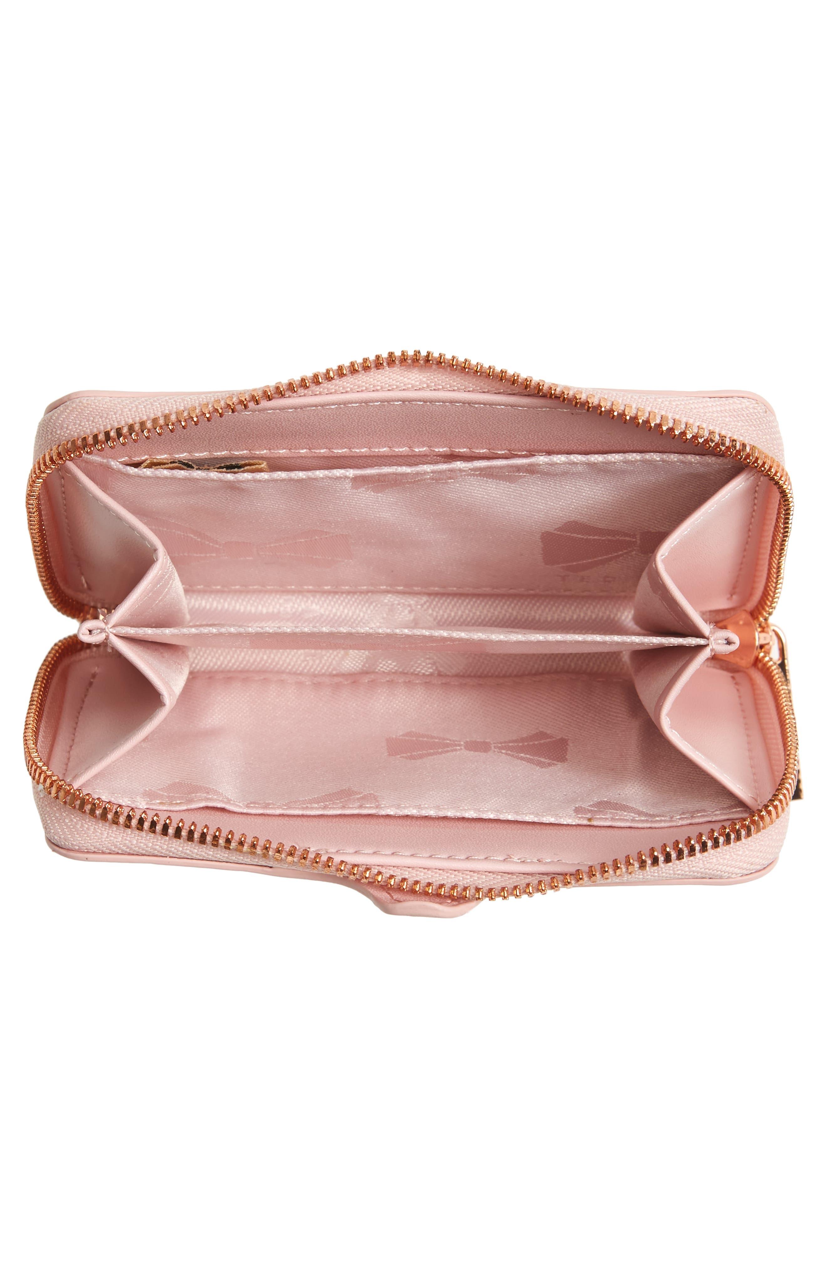 Danyela Leather Zip Purse,                             Alternate thumbnail 2, color,                             Light Pink