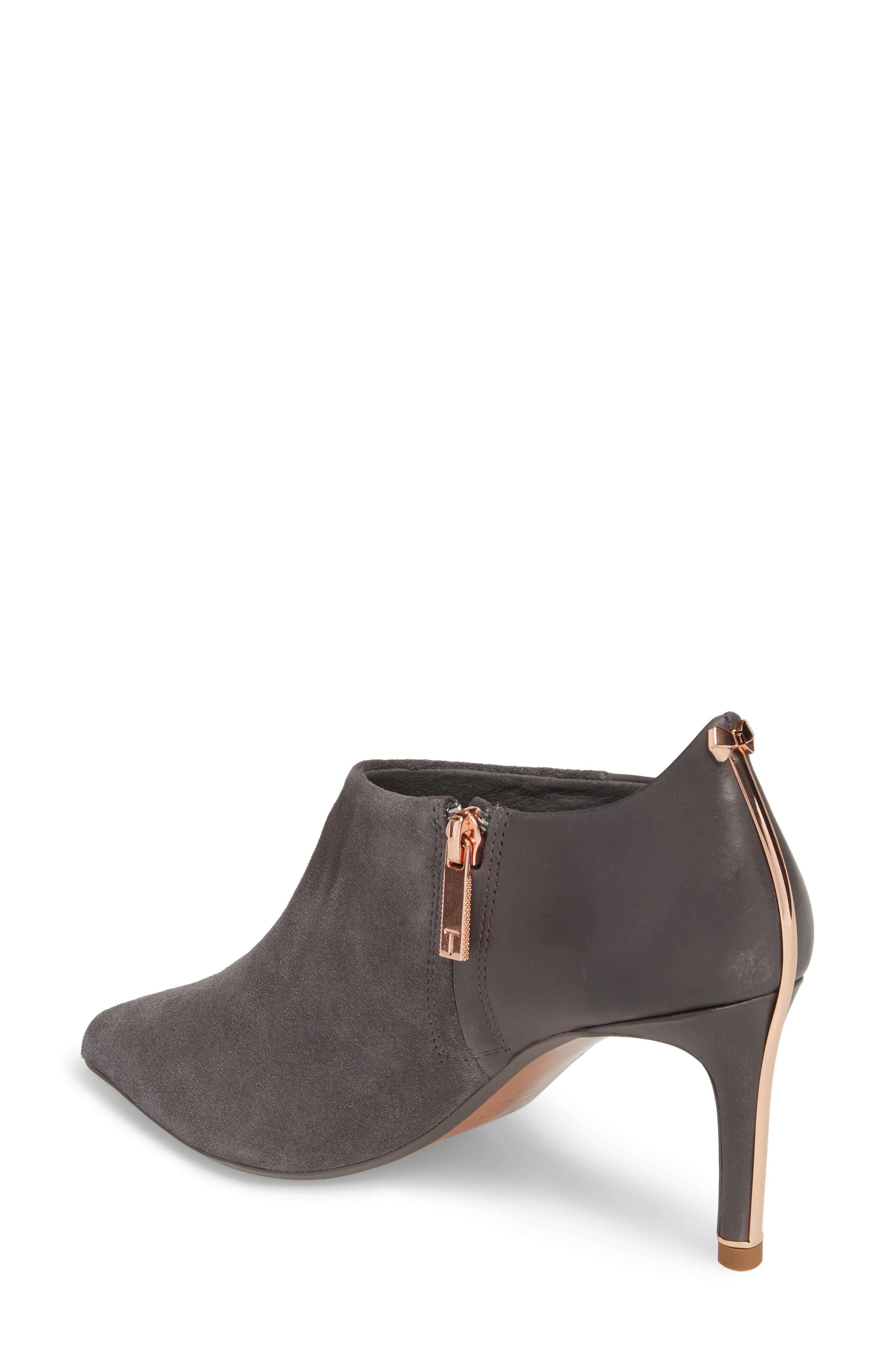 Akasher Bootie,                             Alternate thumbnail 2, color,                             Grey Suede