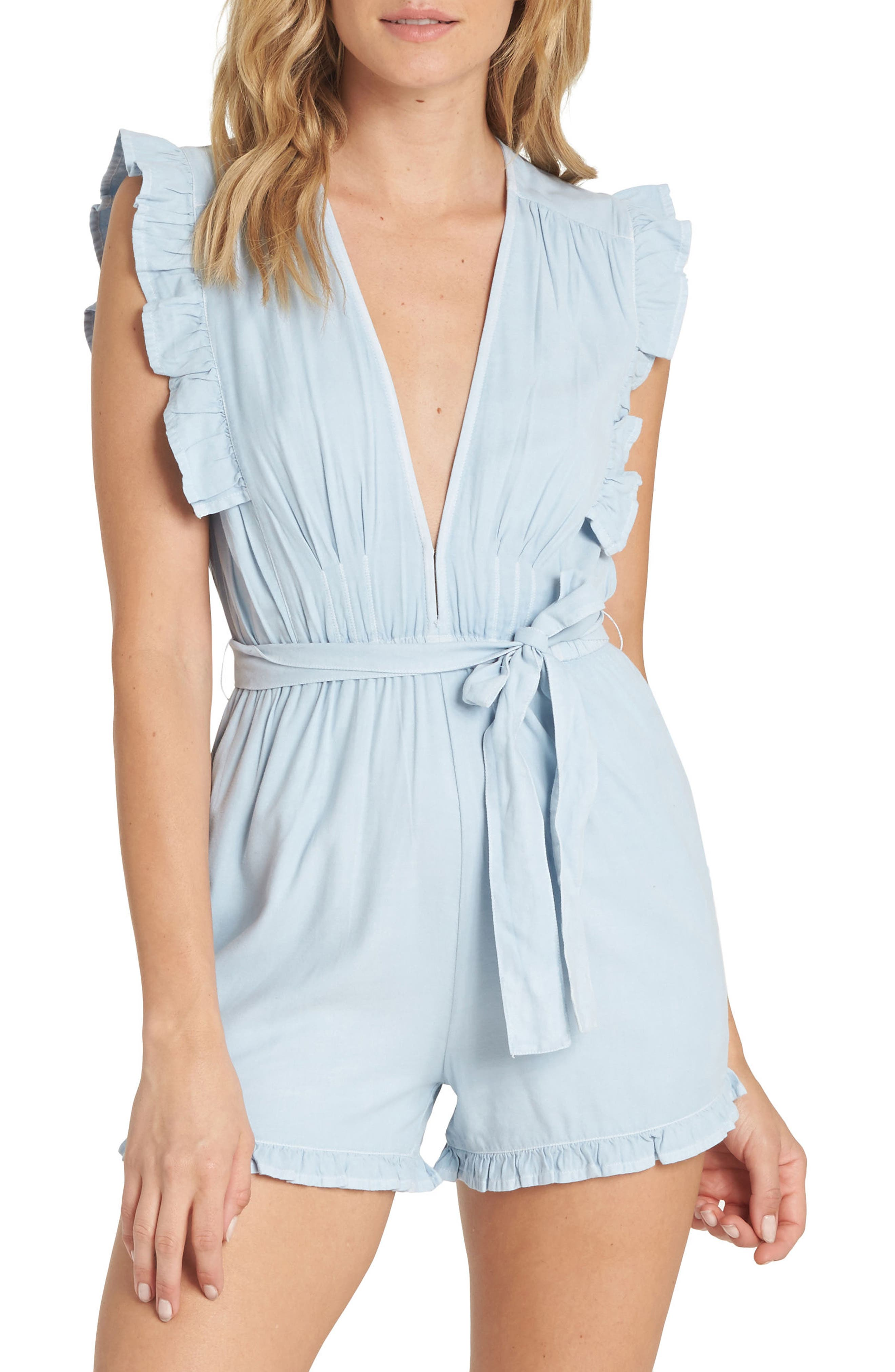 Billabong Sunny Garden Chambray Romper