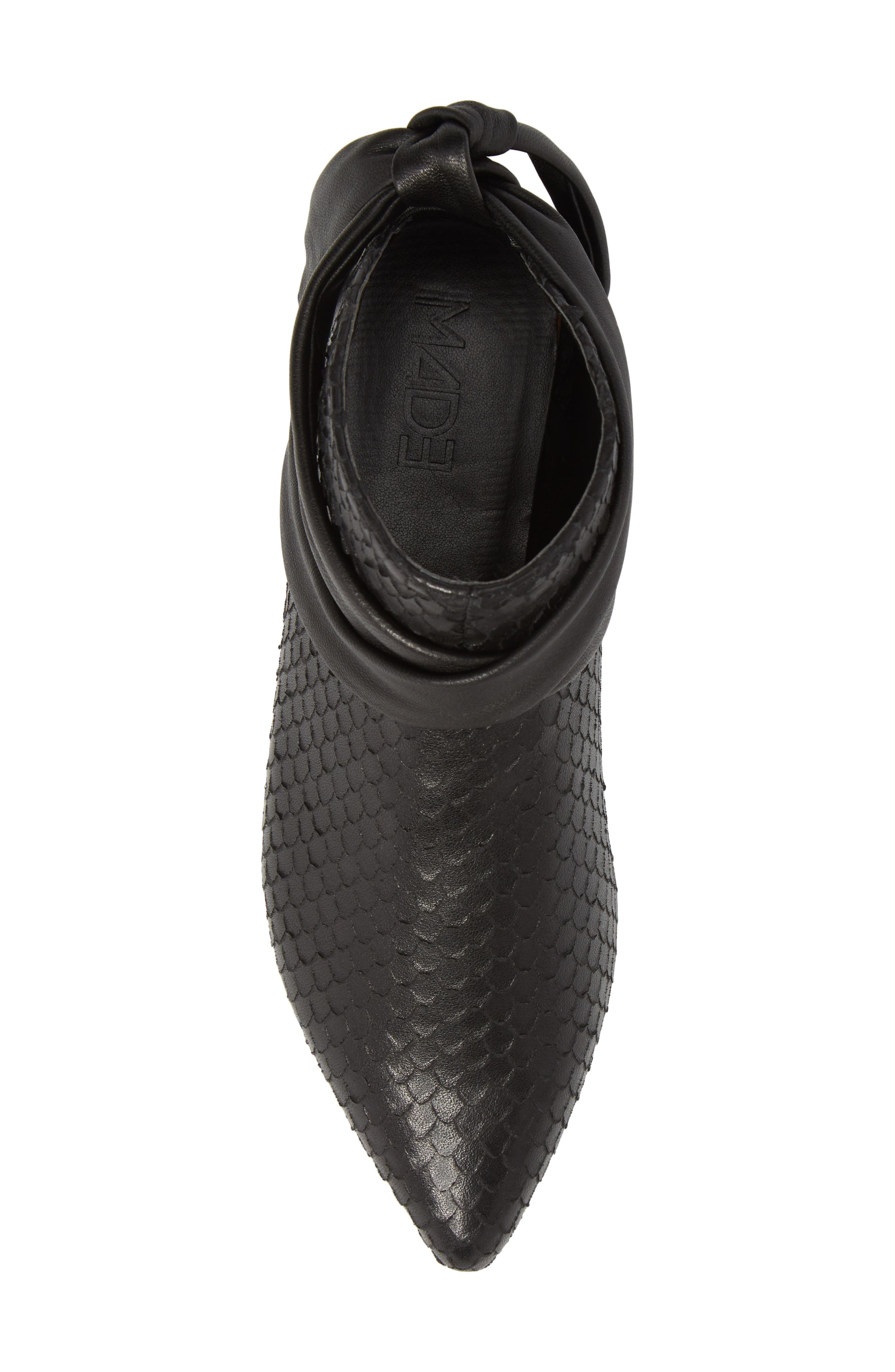 M4D3 Derby Bootie,                             Alternate thumbnail 5, color,                             Black Leather