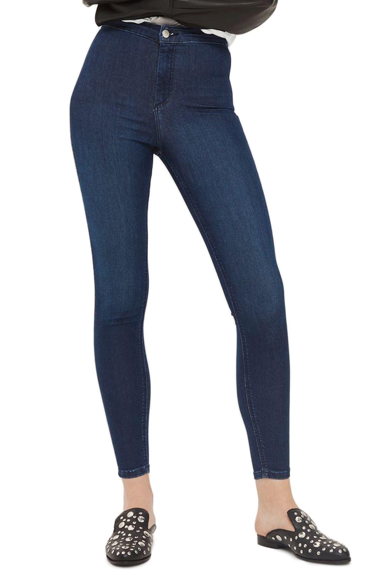 Joni High Waist Ankle Skinny Jeans,                             Main thumbnail 1, color,                             Mid Denim