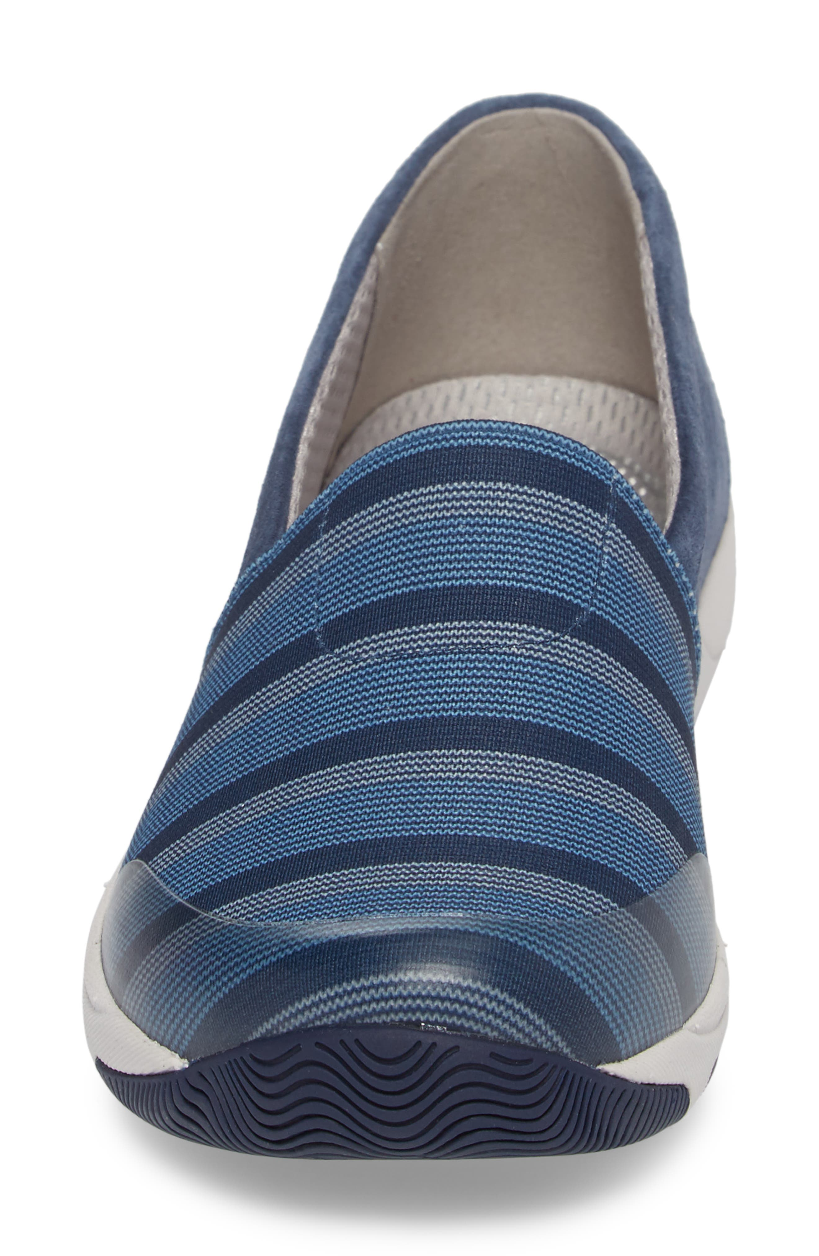 Harriet Slip-On Sneaker,                             Alternate thumbnail 4, color,                             Blue Suede