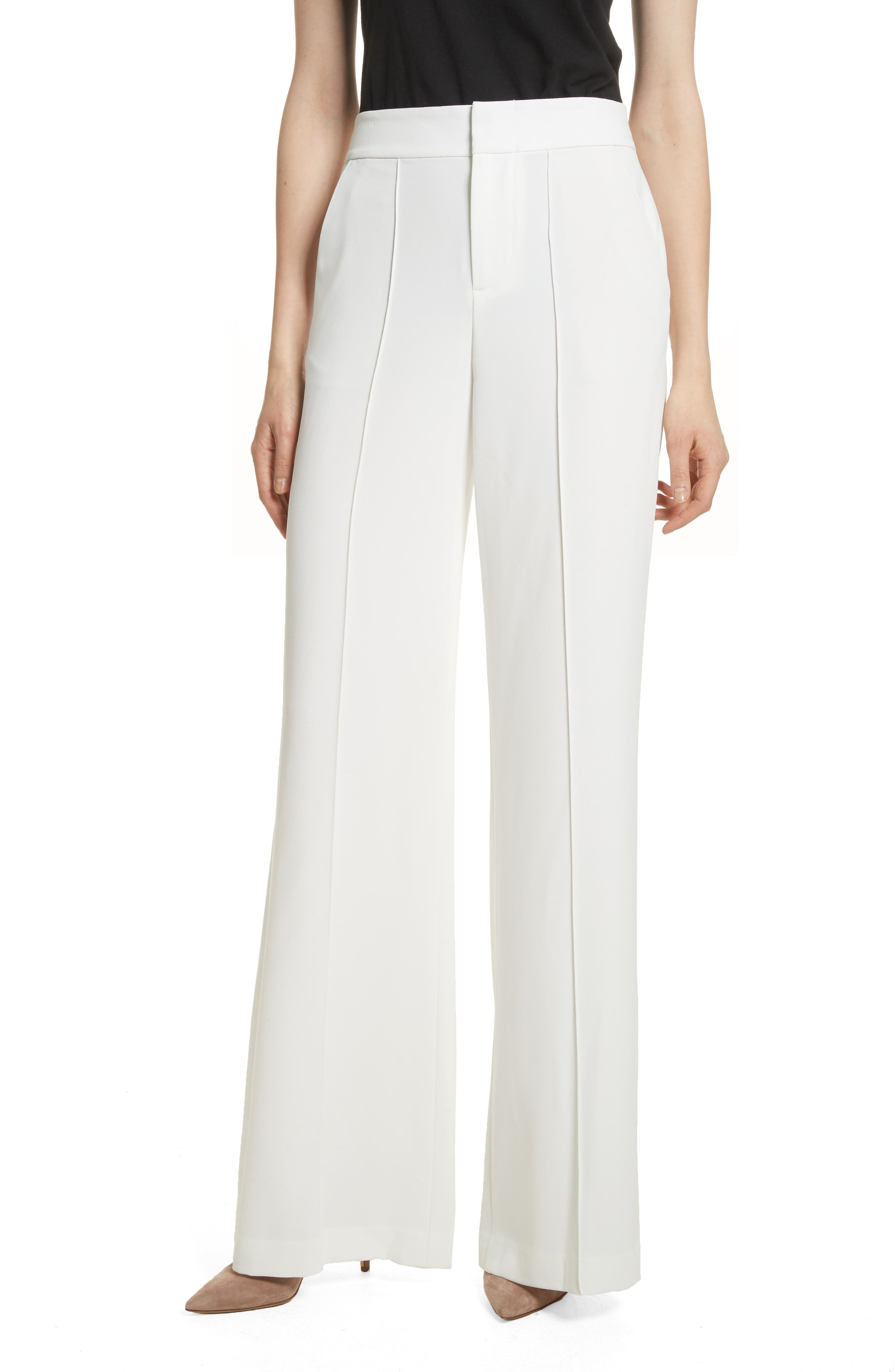 Dylan Wide Leg Pants,                         Main,                         color, Off White