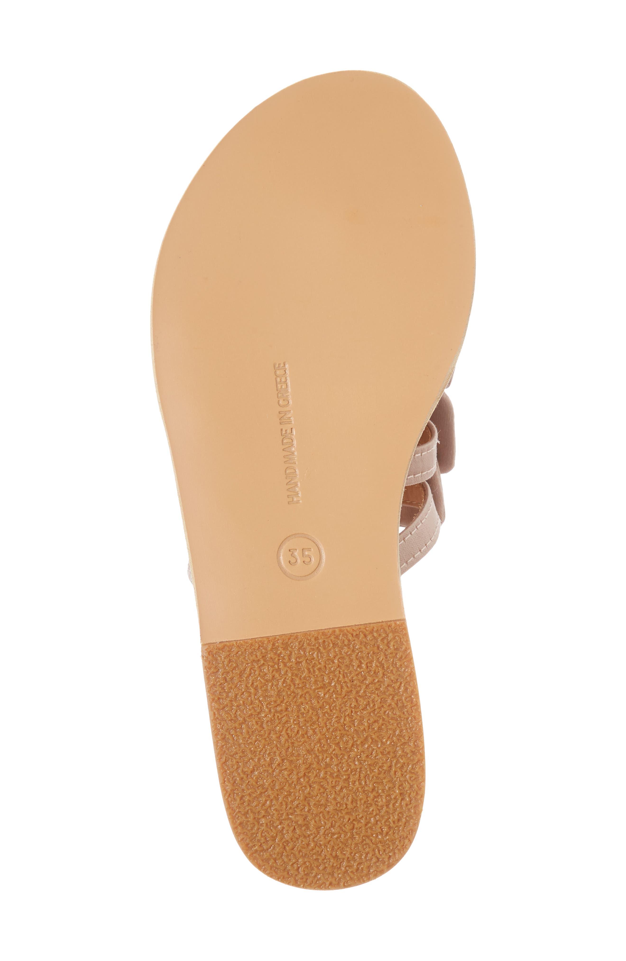 Hara Toe Loop Slide Sandal,                             Alternate thumbnail 6, color,                             Natural/ Lotus