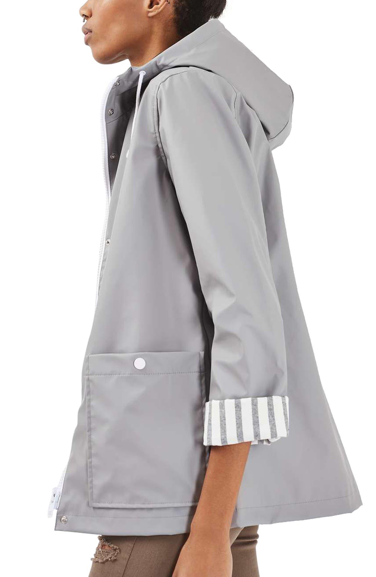 Maisie Rain Jacket,                             Alternate thumbnail 4, color,                             Grey Multi