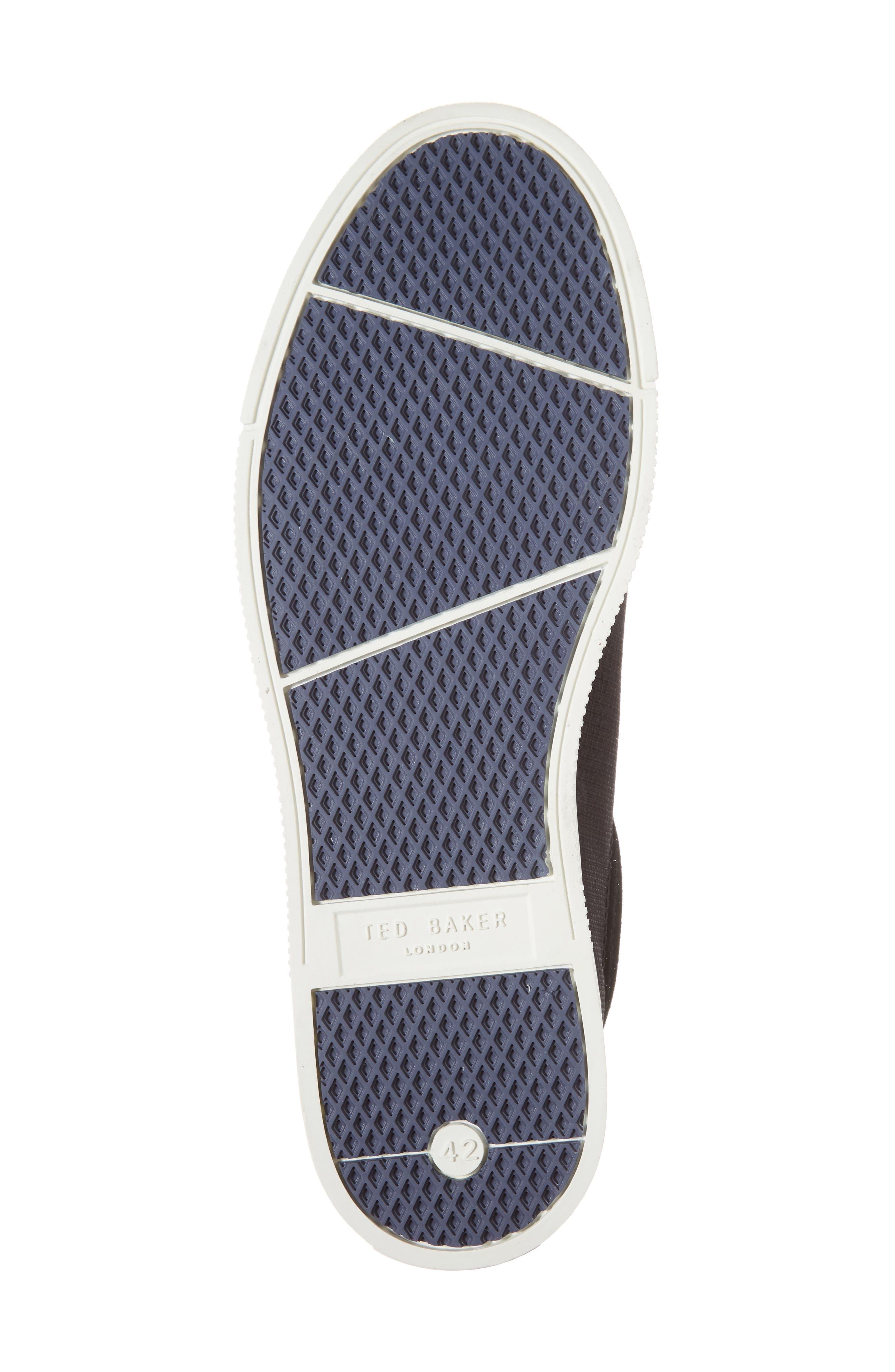 Klemes Sneaker,                             Alternate thumbnail 6, color,                             Black Textile