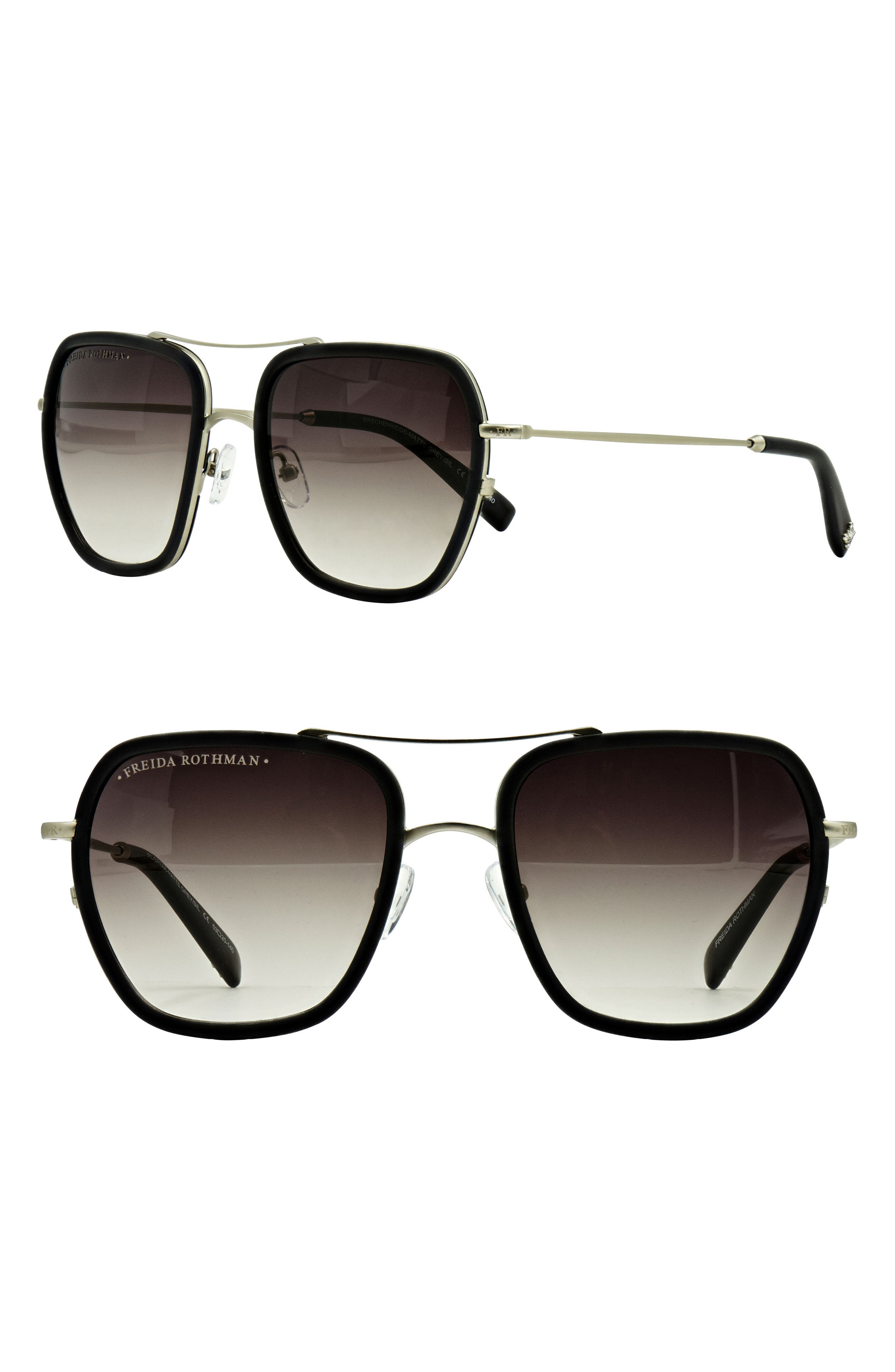FREIDA ROTHMAN Breckenridge 53mm Aviator Sunglasses