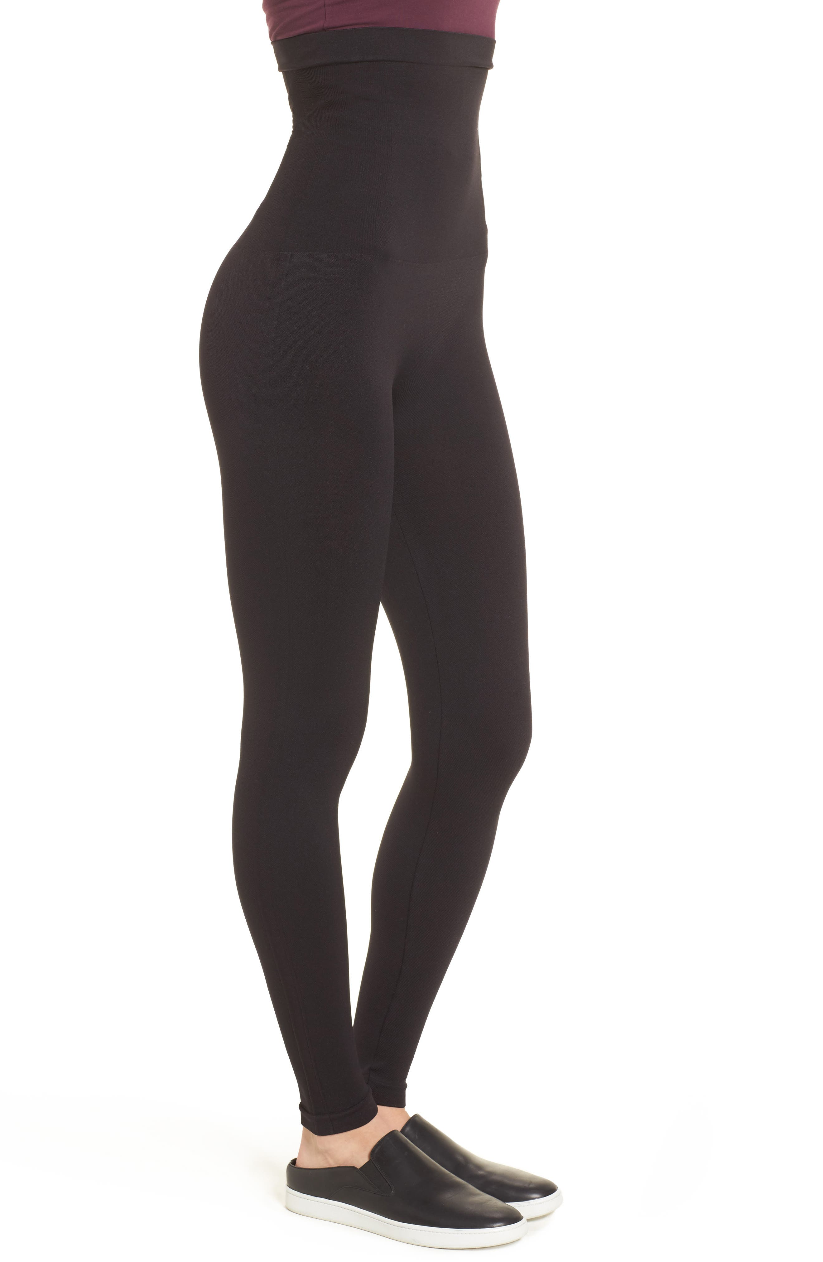 Look At Me Now High Waist Seamless Leggings,                             Alternate thumbnail 3, color,                             Very Black