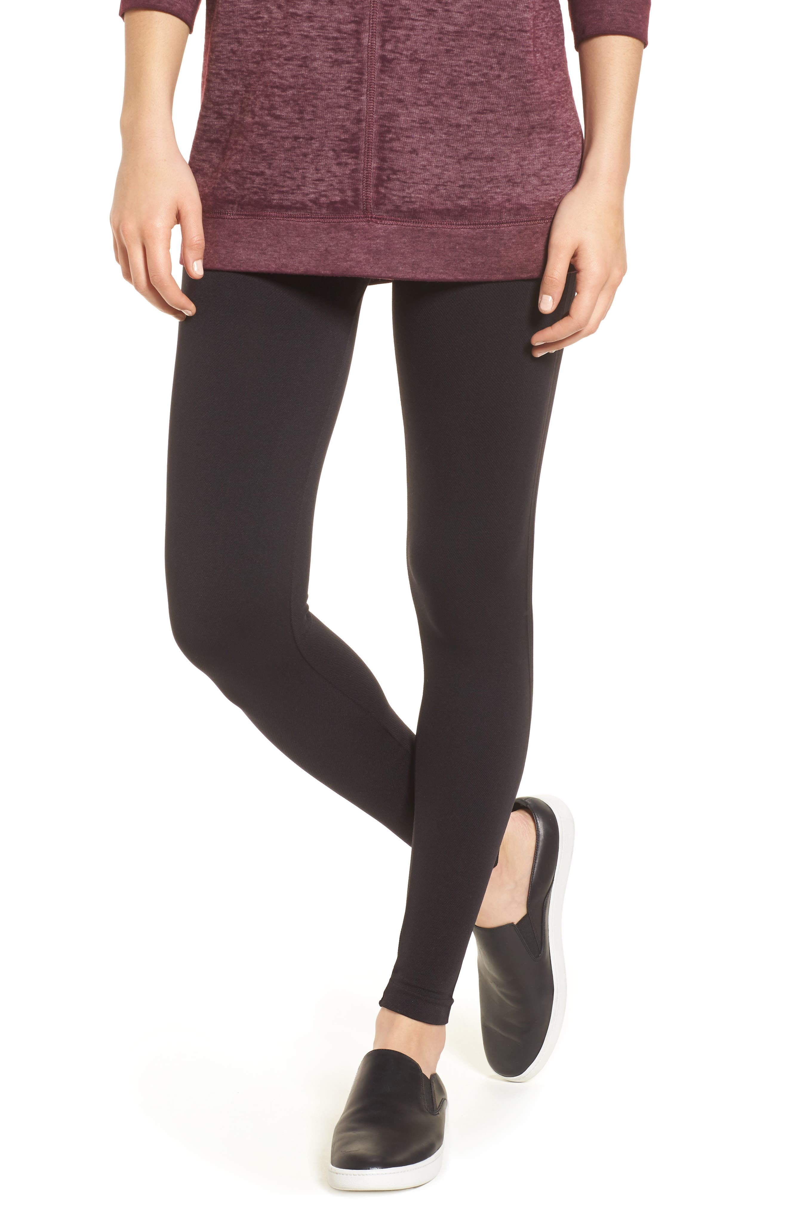 Look At Me Now High Waist Seamless Leggings,                             Main thumbnail 1, color,                             Very Black