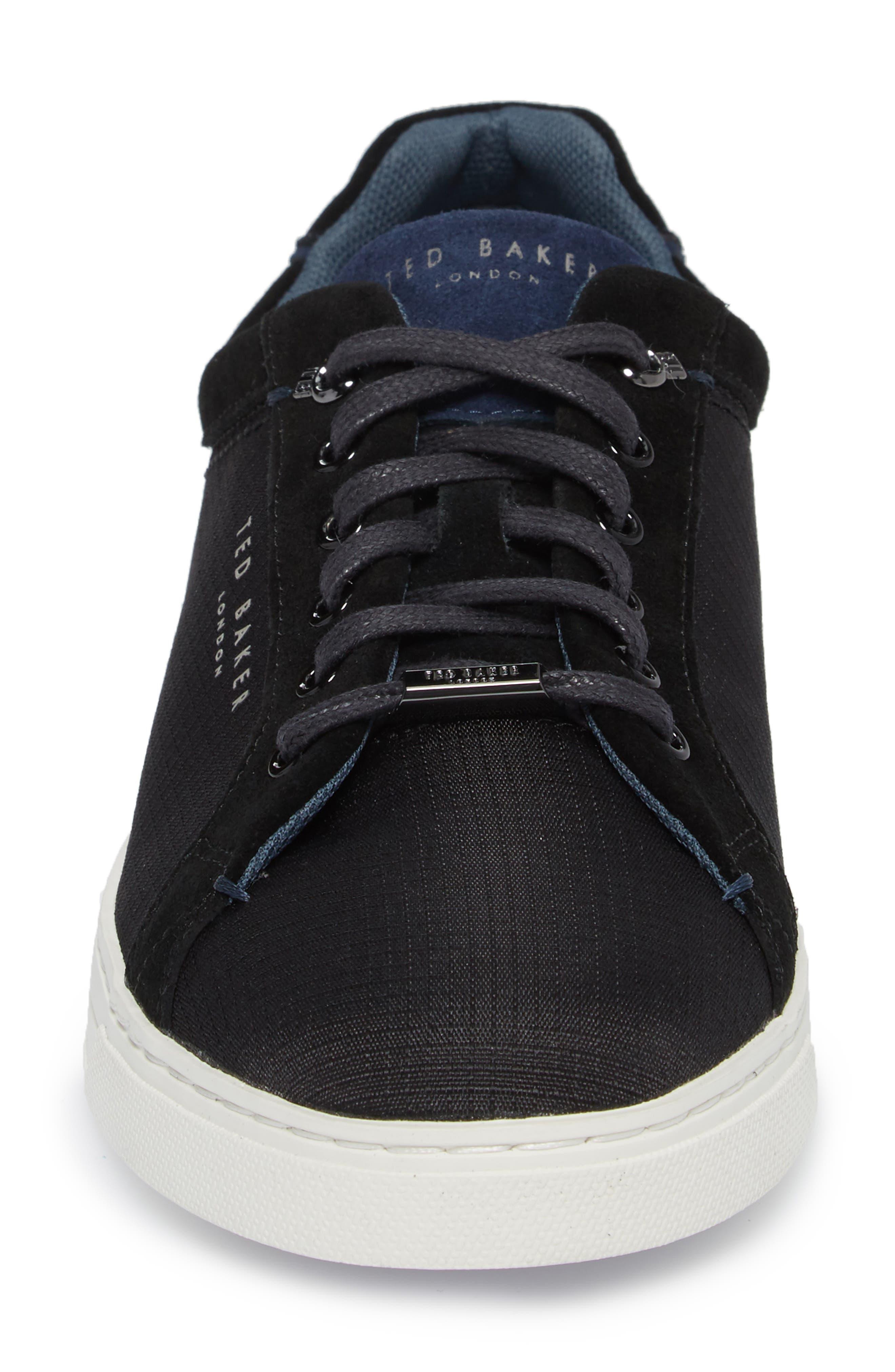 Klemes Sneaker,                             Alternate thumbnail 4, color,                             Black Textile