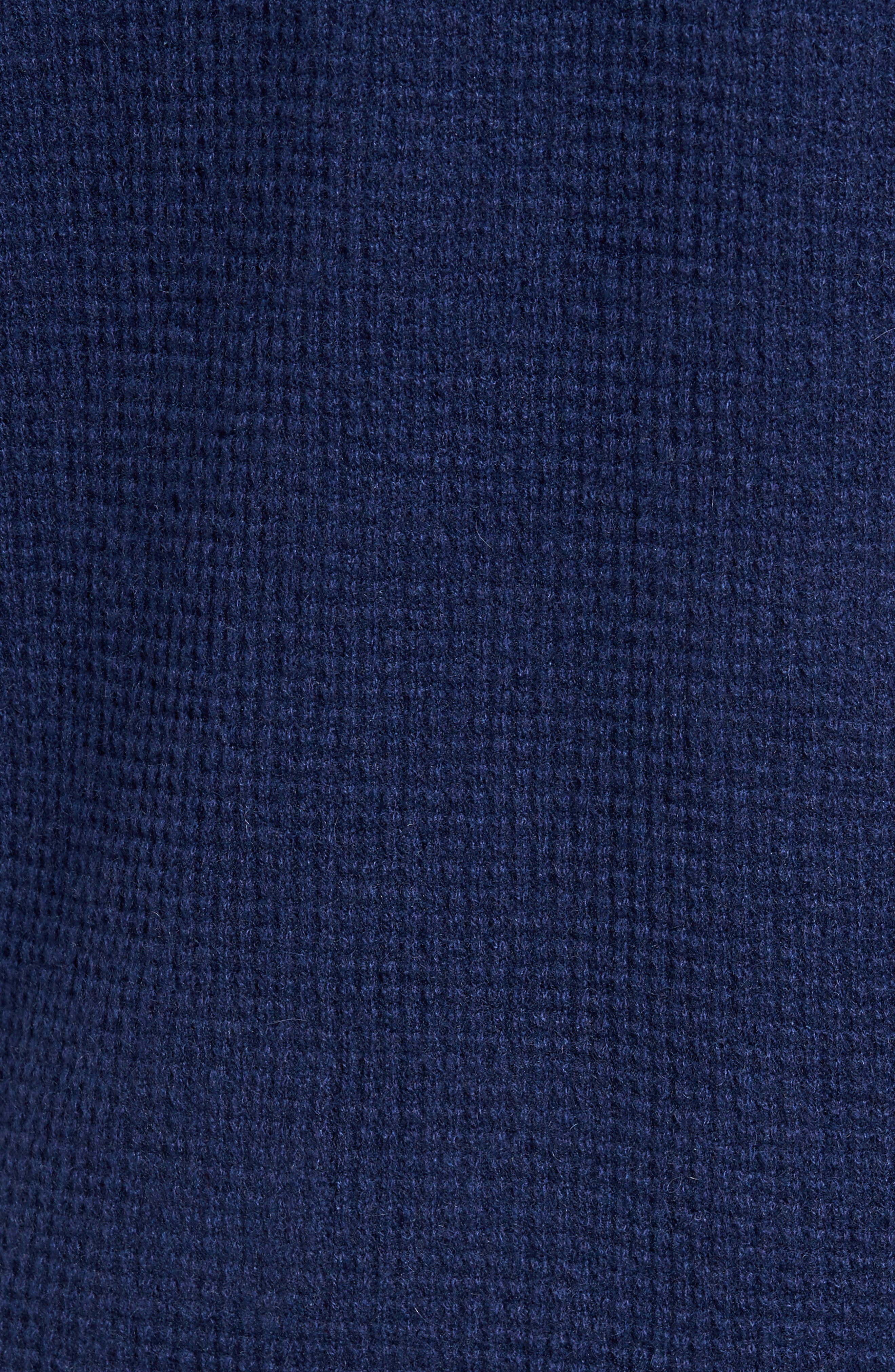 Thermal Cashmere Sweater,                             Alternate thumbnail 5, color,                             Blue
