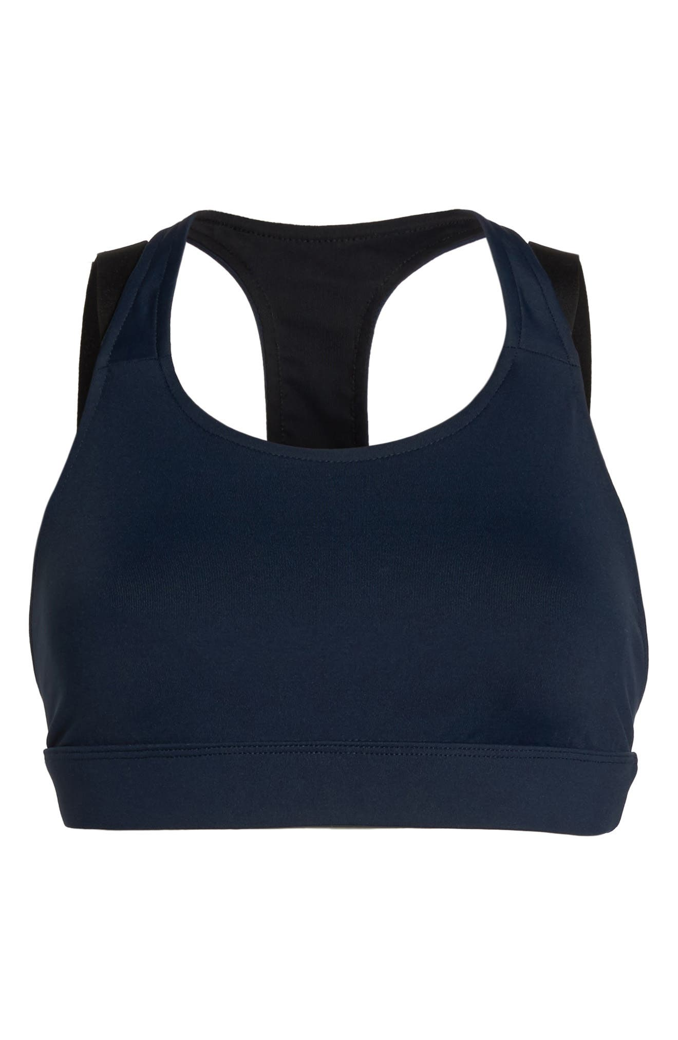 Forte Sports Bra,                             Alternate thumbnail 7, color,                             Midnight Blue/ Black