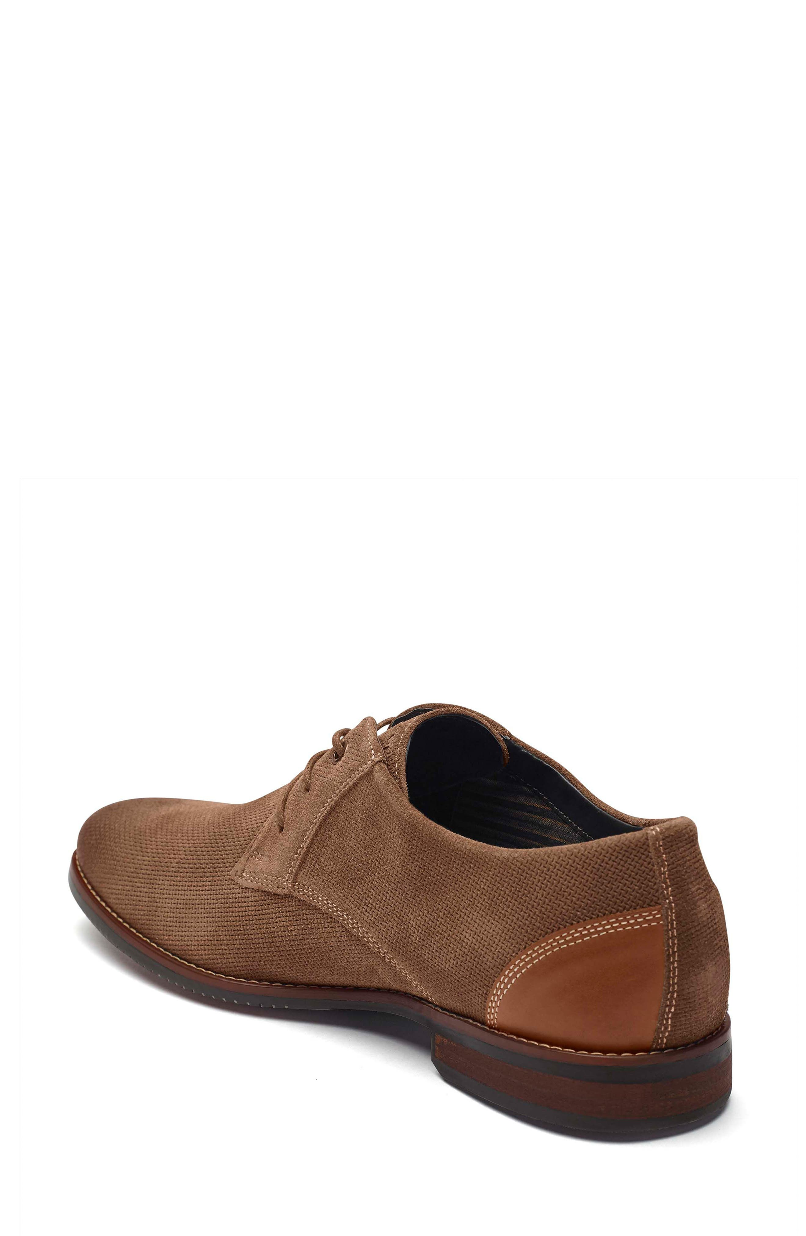 Style Purpose Plain Toe Derby,                             Alternate thumbnail 2, color,                             New Brown Suede