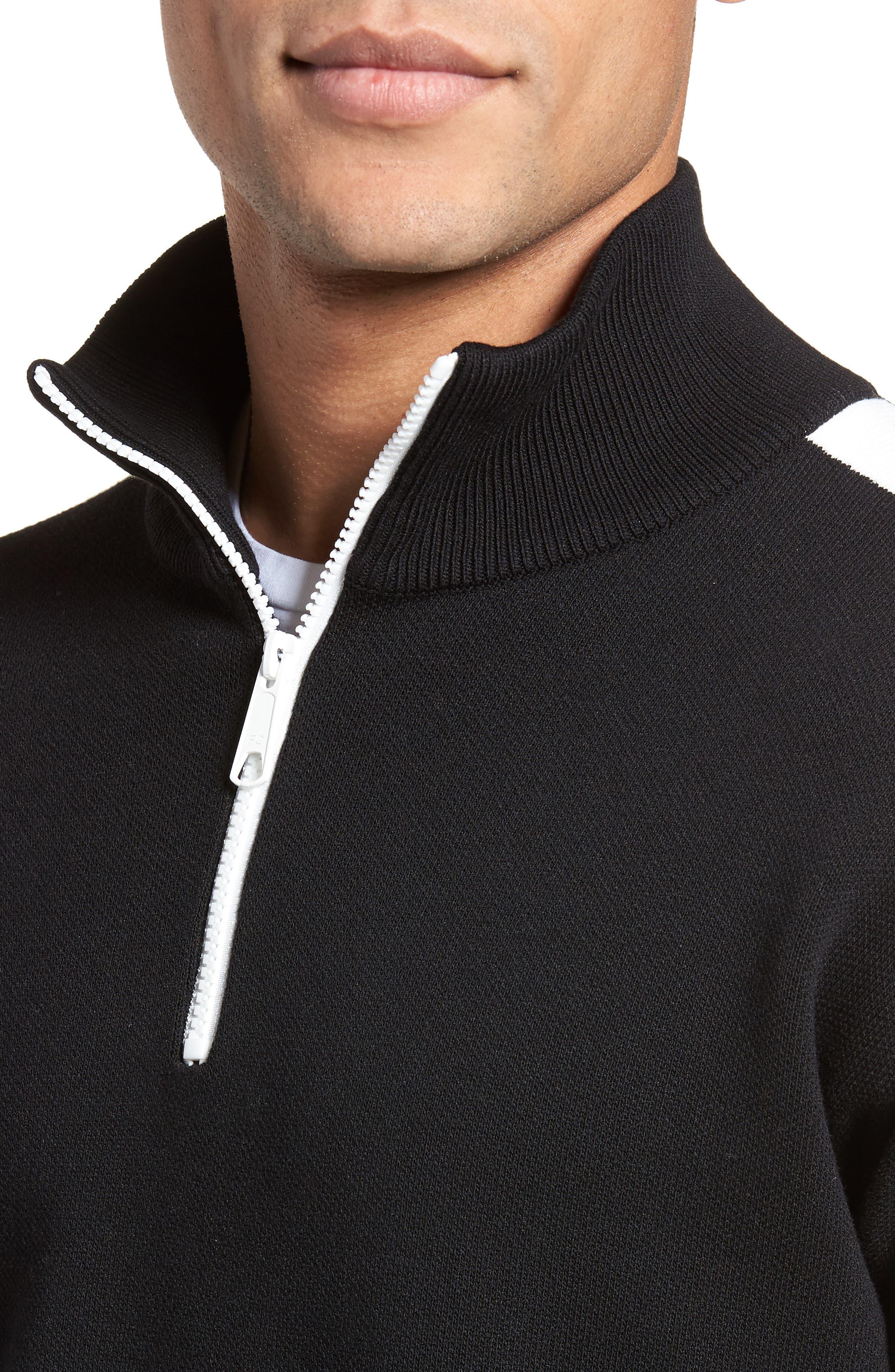 Lakra Regular Fit Half Zip Pullover,                             Alternate thumbnail 4, color,                             Black/Milk/Black